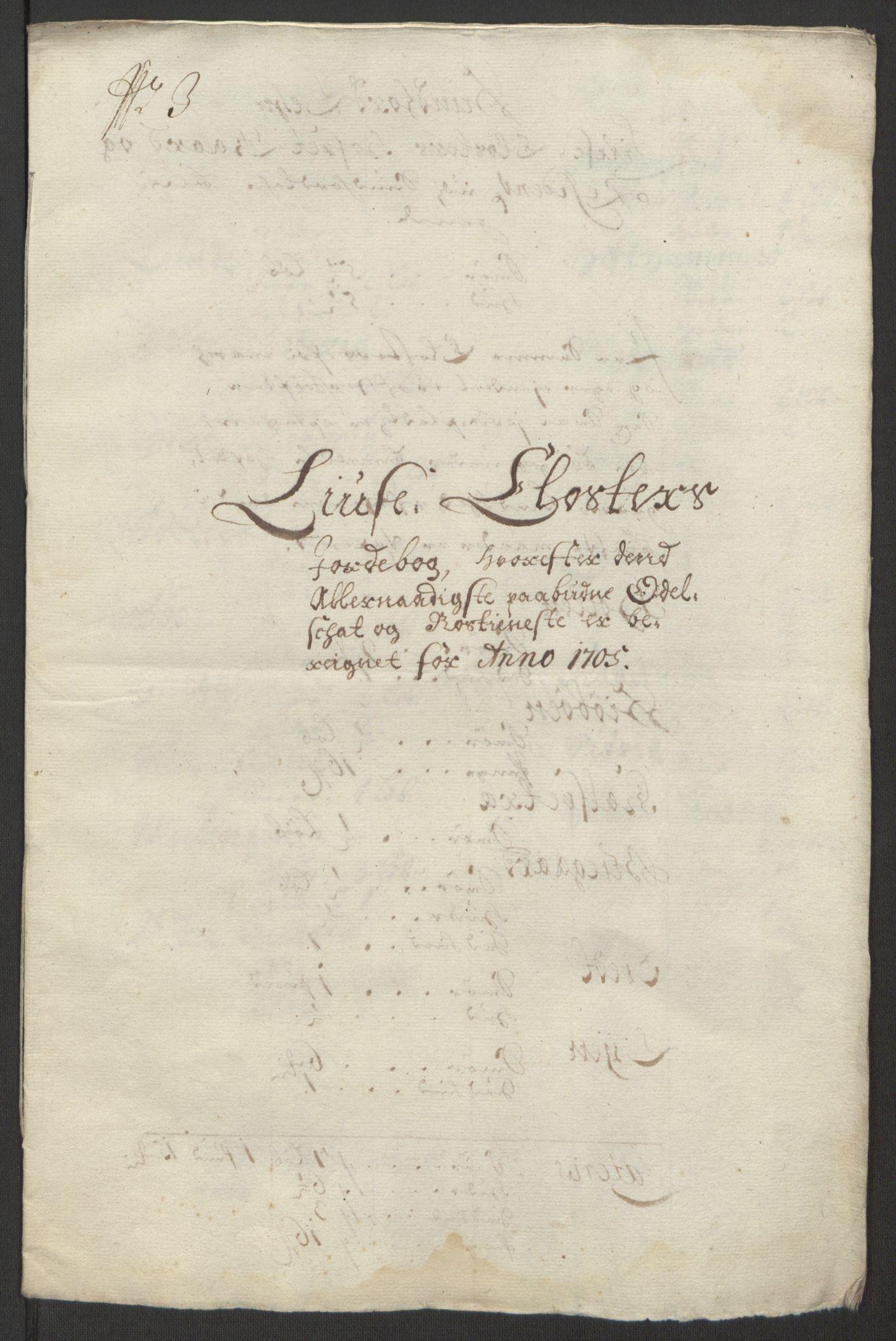 RA, Rentekammeret inntil 1814, Reviderte regnskaper, Fogderegnskap, R50/L3159: Fogderegnskap Lyse kloster, 1691-1709, s. 229