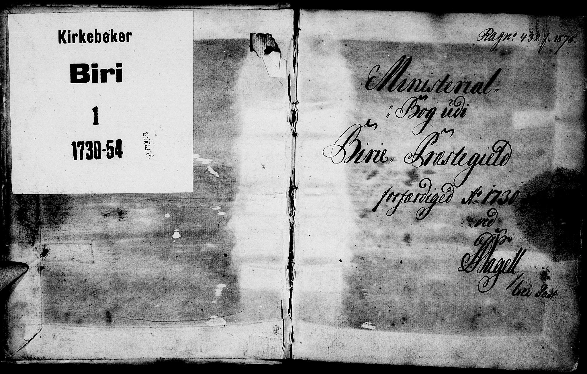 SAH, Biri prestekontor, Ministerialbok nr. 1, 1730-1754