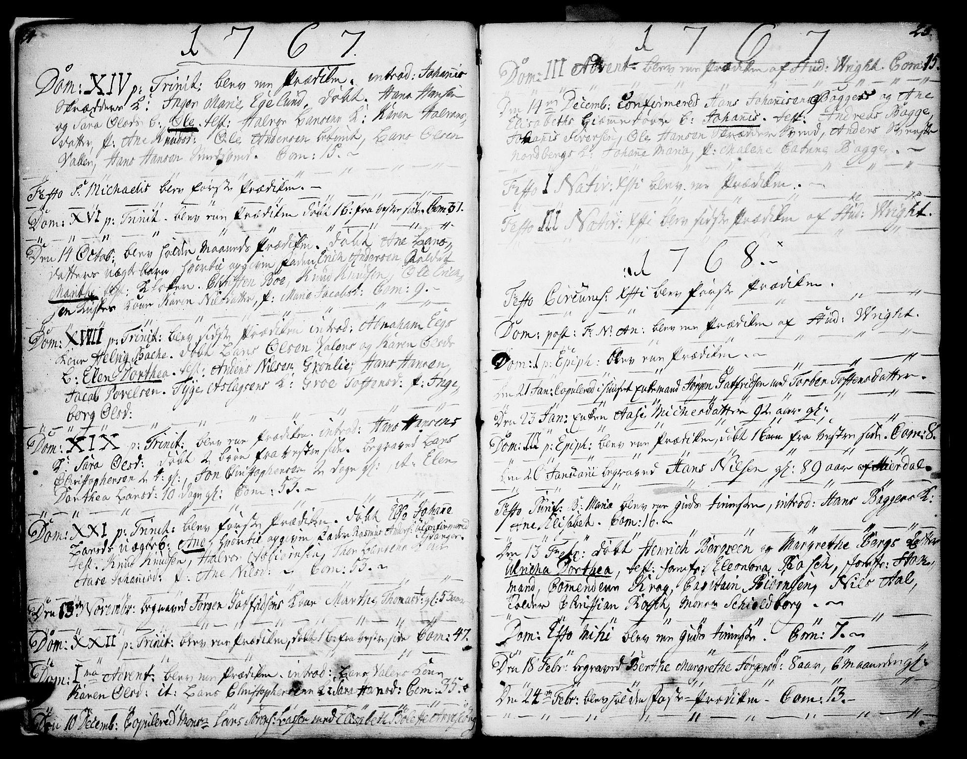 SAKO, Porsgrunn kirkebøker , F/Fa/L0002: Ministerialbok nr. 2, 1764-1814, s. 24-25
