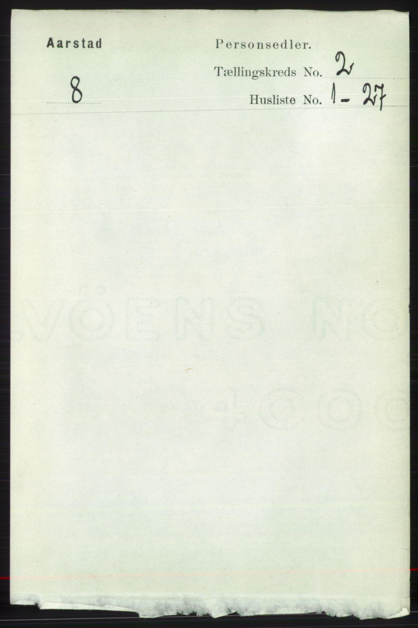 SAB, Folketelling 1891 for 1280 Årstad herred, 1891, s. 1106