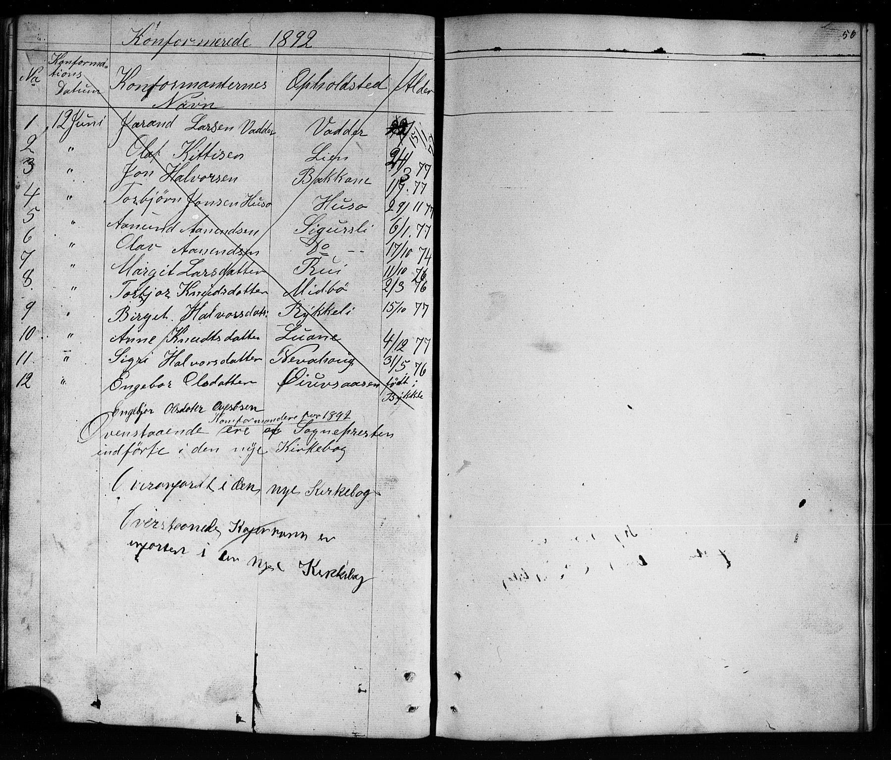 SAKO, Mo kirkebøker, G/Ga/L0001: Klokkerbok nr. I 1, 1851-1891, s. 56