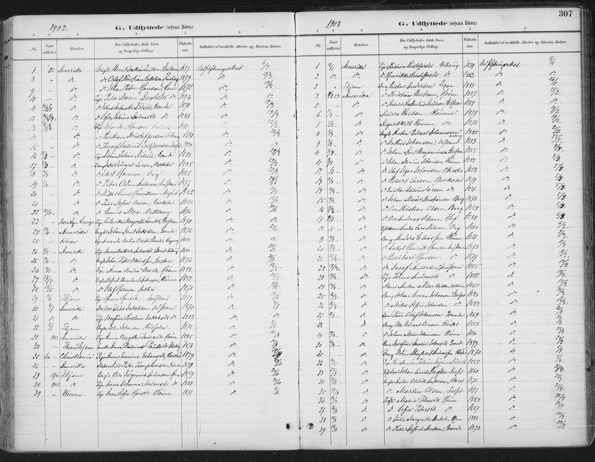 SAT, Ministerialprotokoller, klokkerbøker og fødselsregistre - Sør-Trøndelag, 659/L0743: Ministerialbok nr. 659A13, 1893-1910, s. 307