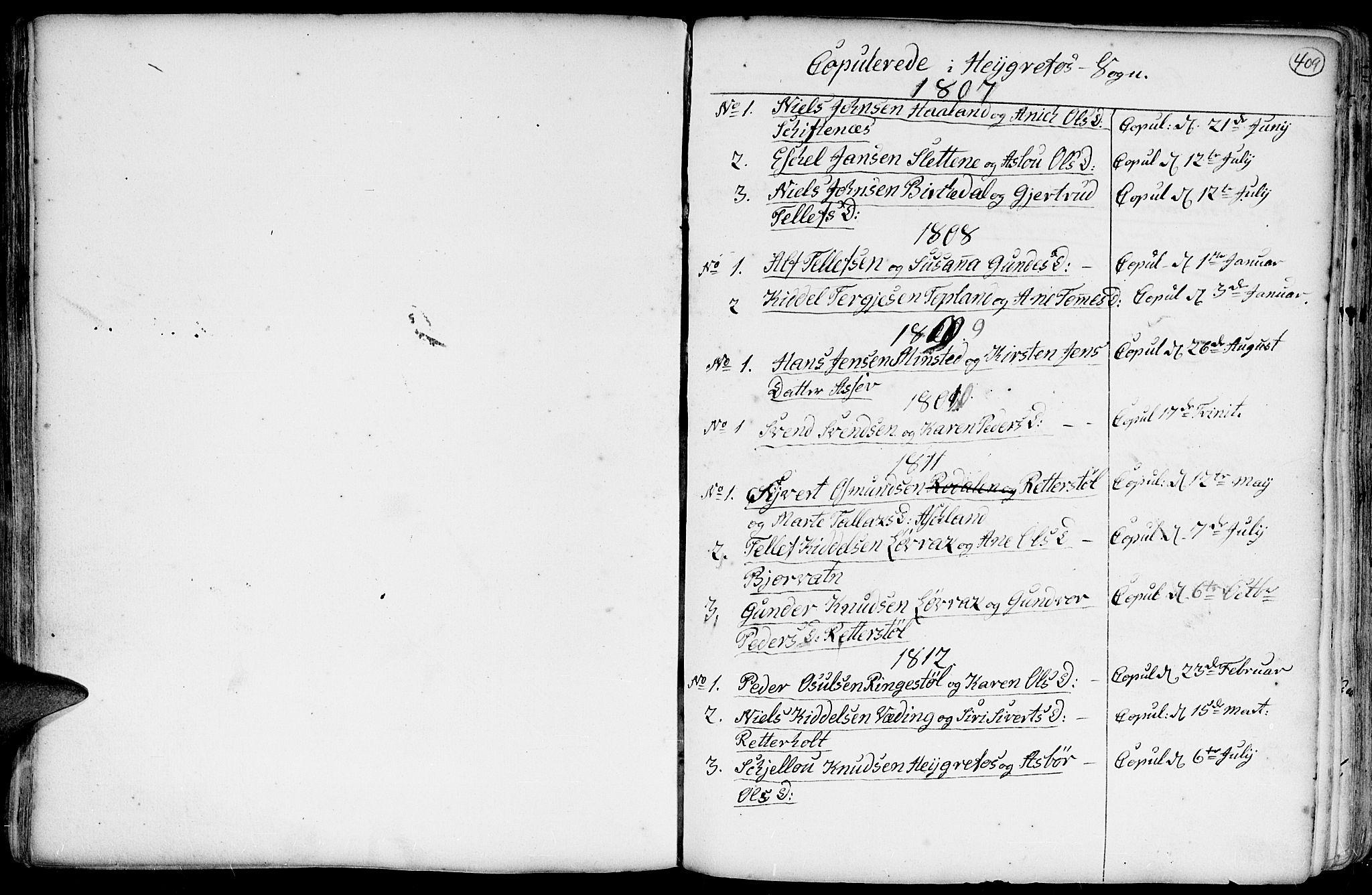 SAK, Hommedal sokneprestkontor, F/Fa/Fab/L0002: Ministerialbok nr. A 2 /3, 1740-1821, s. 409