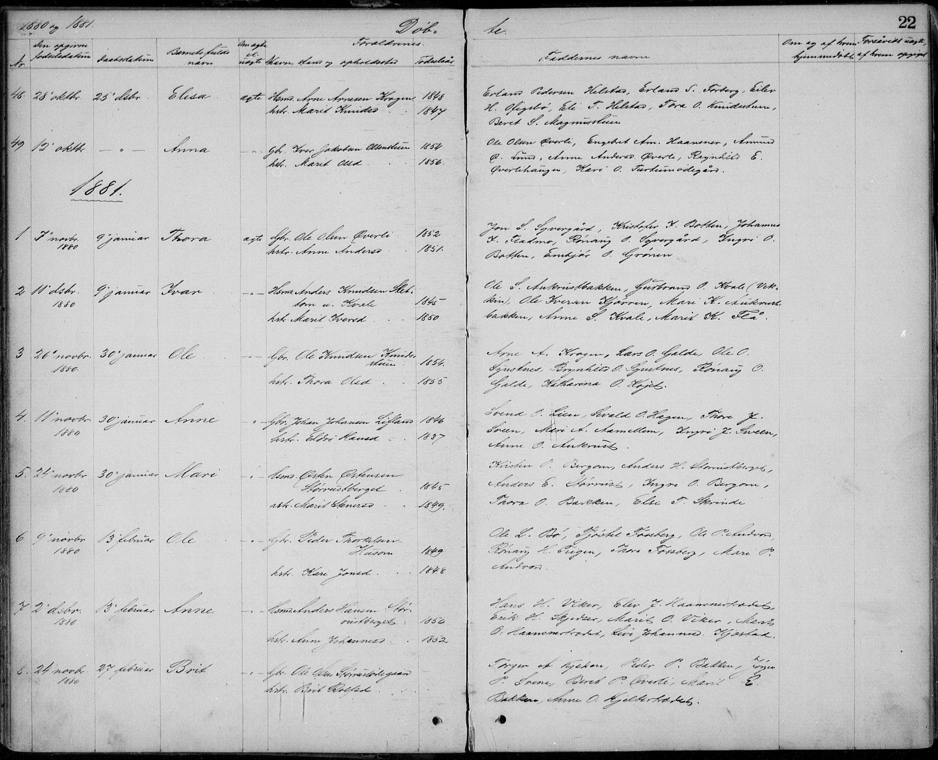SAH, Lom prestekontor, L/L0013: Klokkerbok nr. 13, 1874-1938, s. 22