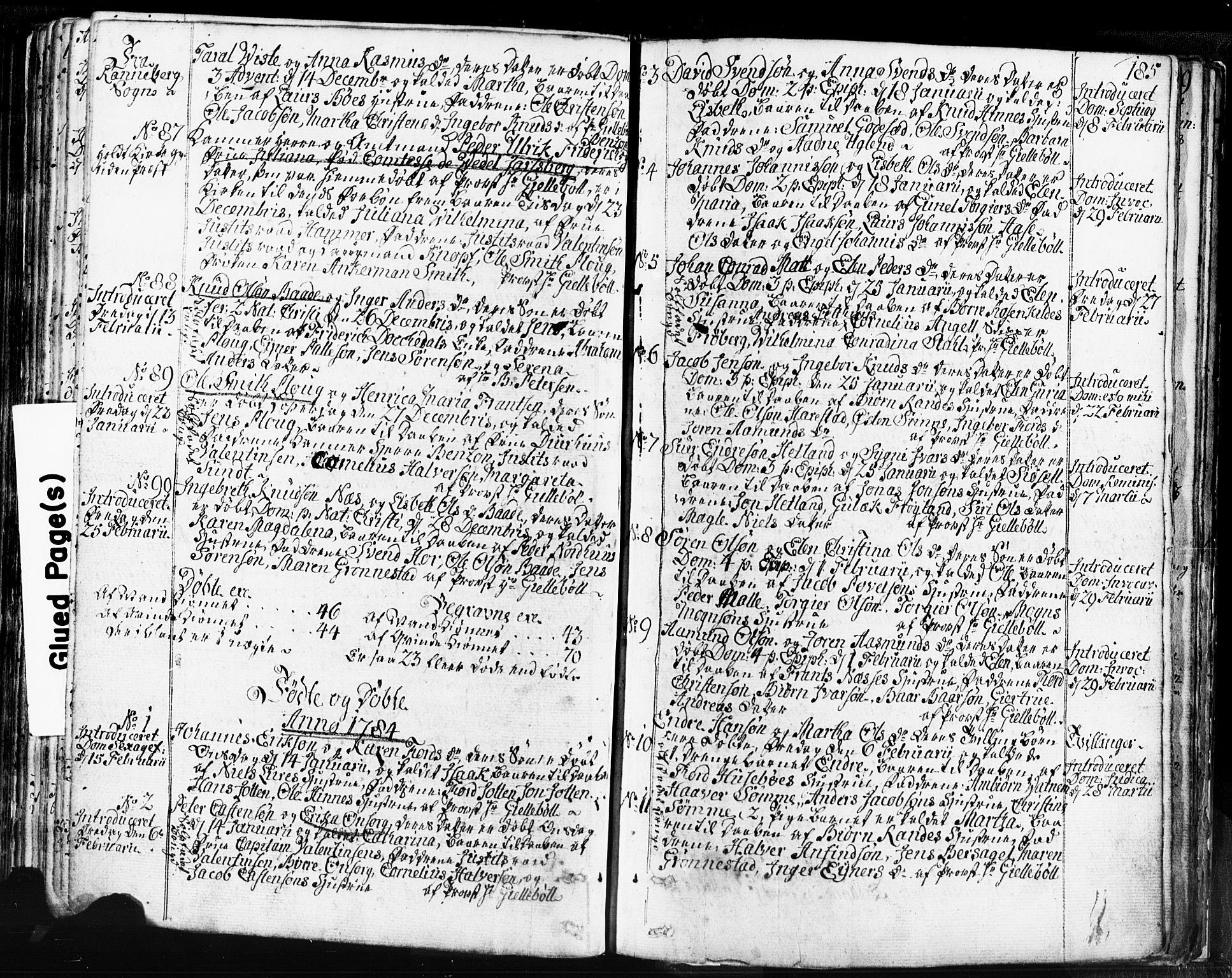 SAST, Domkirken sokneprestkontor, 30/30BB/L0004: Klokkerbok nr. B 4, 1752-1790, s. 185