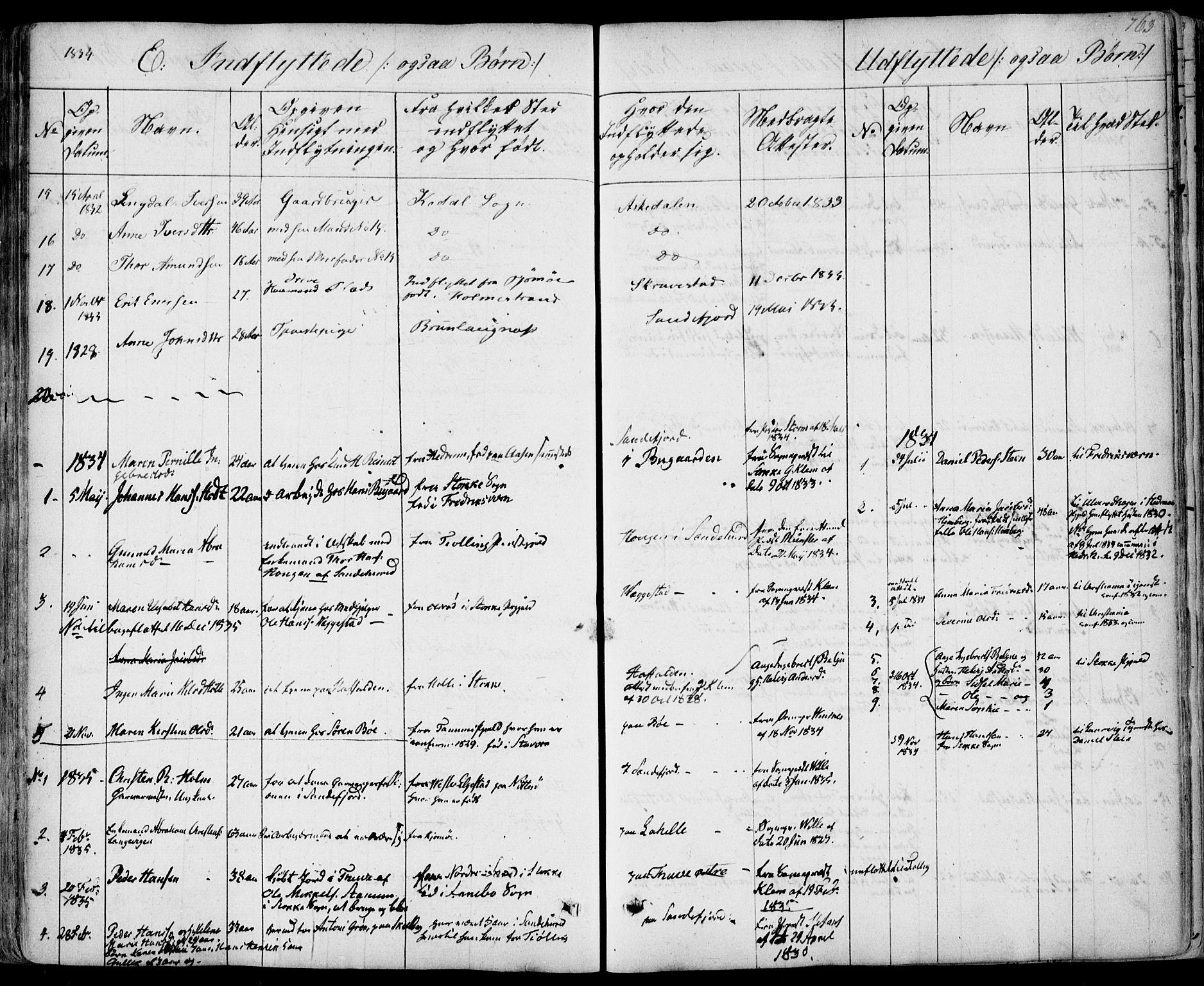 SAKO, Sandar kirkebøker, F/Fa/L0005: Ministerialbok nr. 5, 1832-1847, s. 762-763