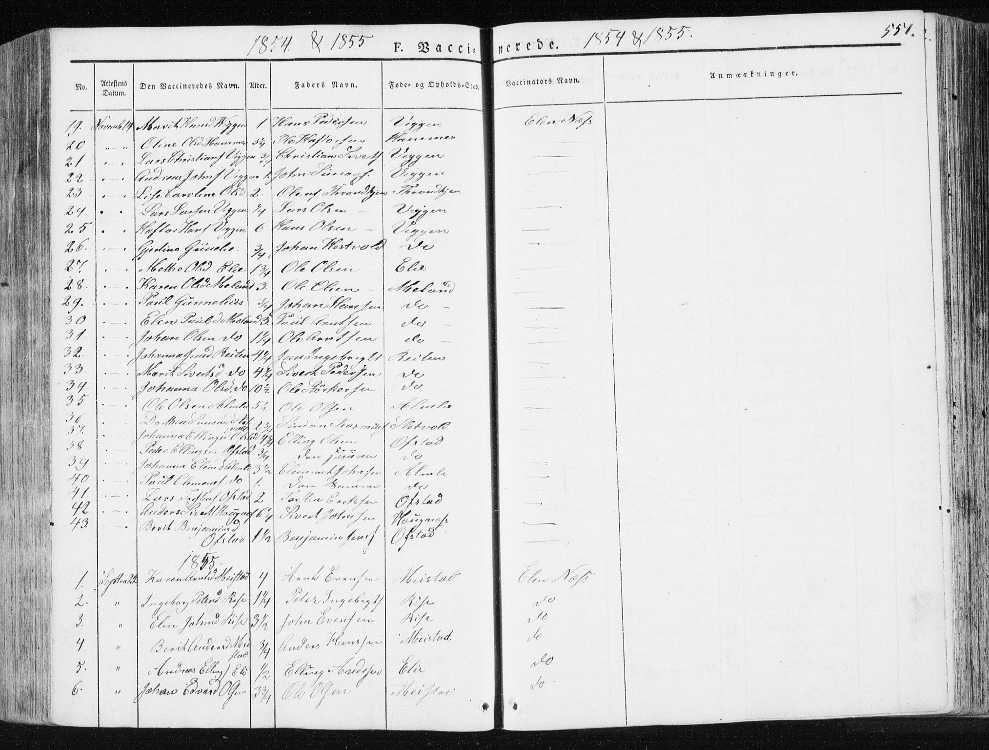 SAT, Ministerialprotokoller, klokkerbøker og fødselsregistre - Sør-Trøndelag, 665/L0771: Ministerialbok nr. 665A06, 1830-1856, s. 551