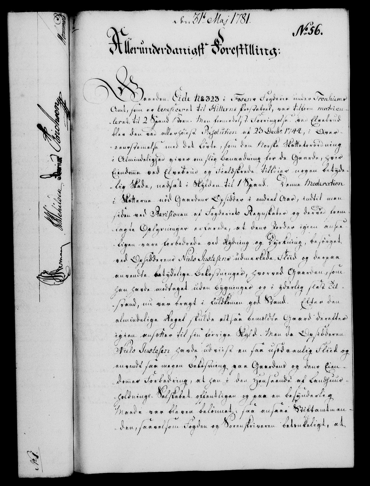 RA, Rentekammeret, Kammerkanselliet, G/Gf/Gfa/L0063: Norsk relasjons- og resolusjonsprotokoll (merket RK 52.63), 1781, s. 698