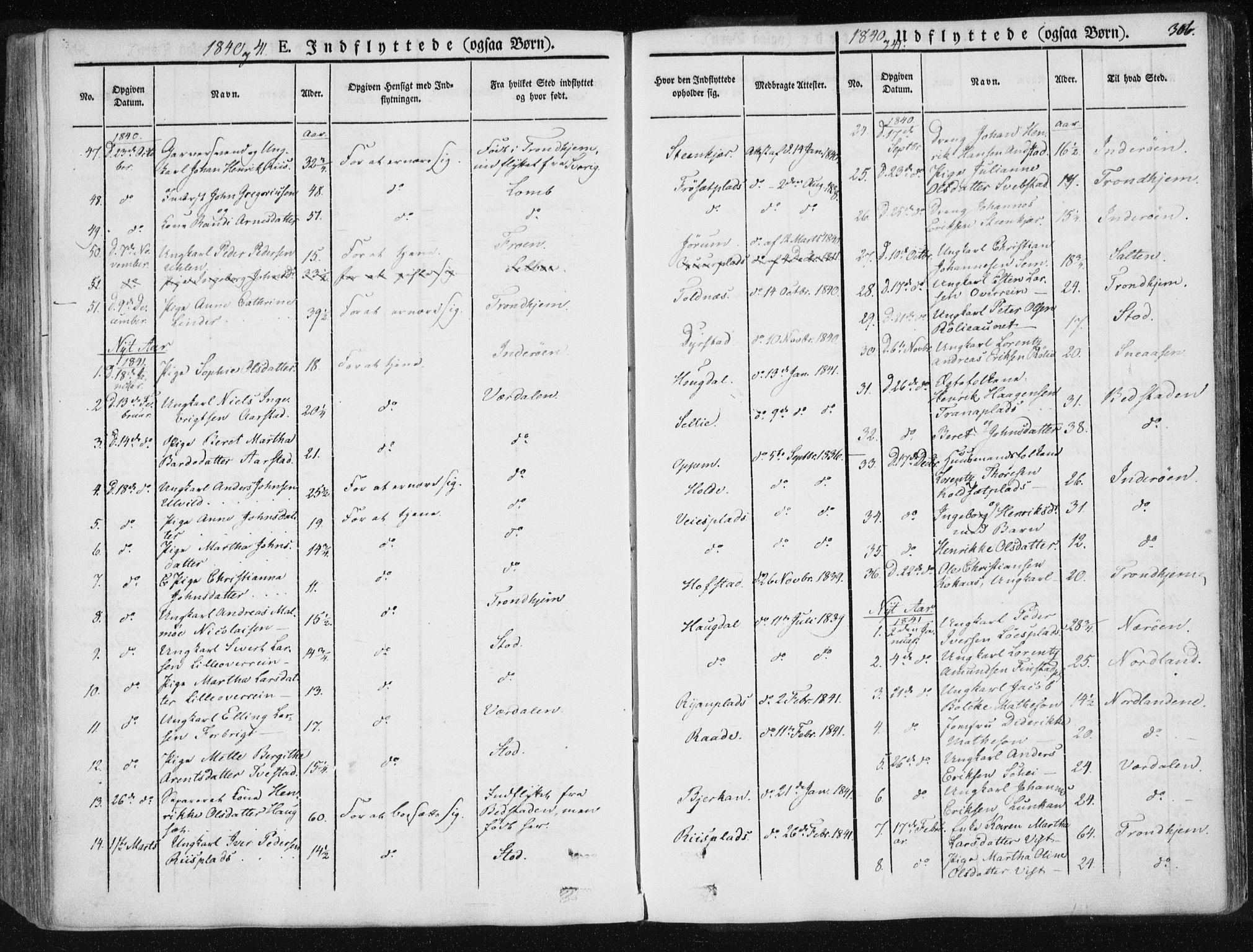 SAT, Ministerialprotokoller, klokkerbøker og fødselsregistre - Nord-Trøndelag, 735/L0339: Ministerialbok nr. 735A06 /1, 1836-1848, s. 306