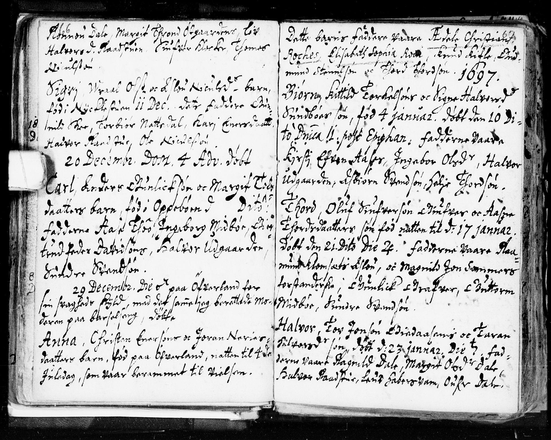 SAKO, Seljord kirkebøker, F/Fa/L0002: Ministerialbok nr. I 2, 1689-1713, s. 66-67