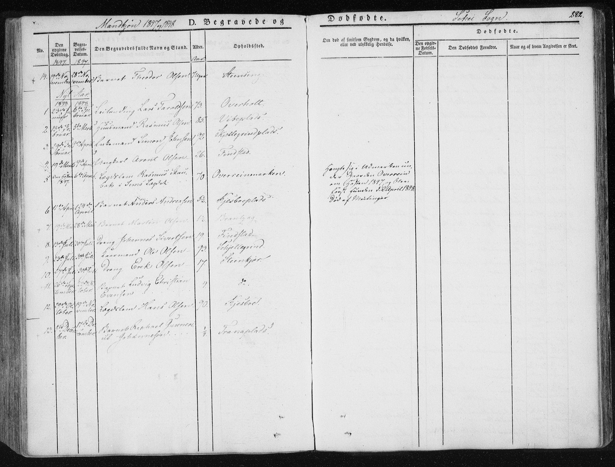 SAT, Ministerialprotokoller, klokkerbøker og fødselsregistre - Nord-Trøndelag, 735/L0339: Ministerialbok nr. 735A06 /2, 1836-1848, s. 282
