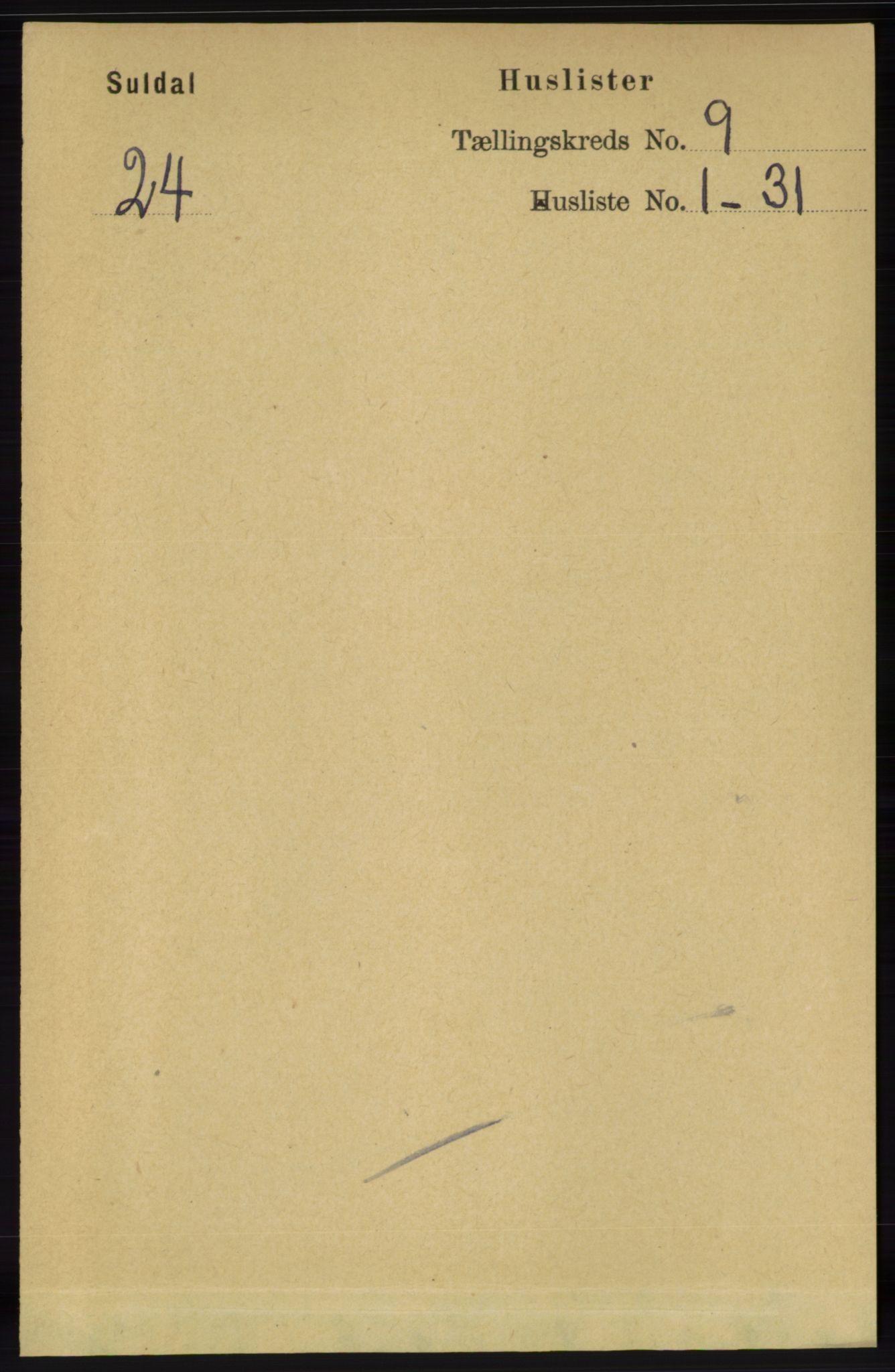 RA, Folketelling 1891 for 1134 Suldal herred, 1891, s. 2621