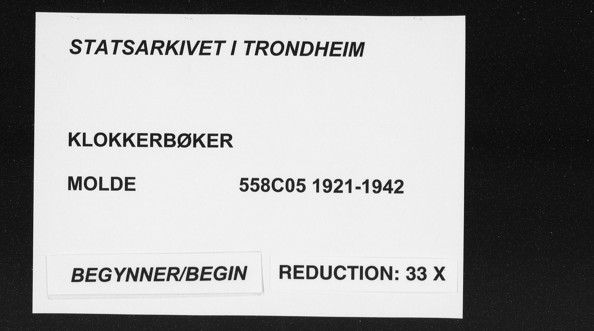 SAT, Ministerialprotokoller, klokkerbøker og fødselsregistre - Møre og Romsdal, 558/L0704: Klokkerbok nr. 558C05, 1921-1942