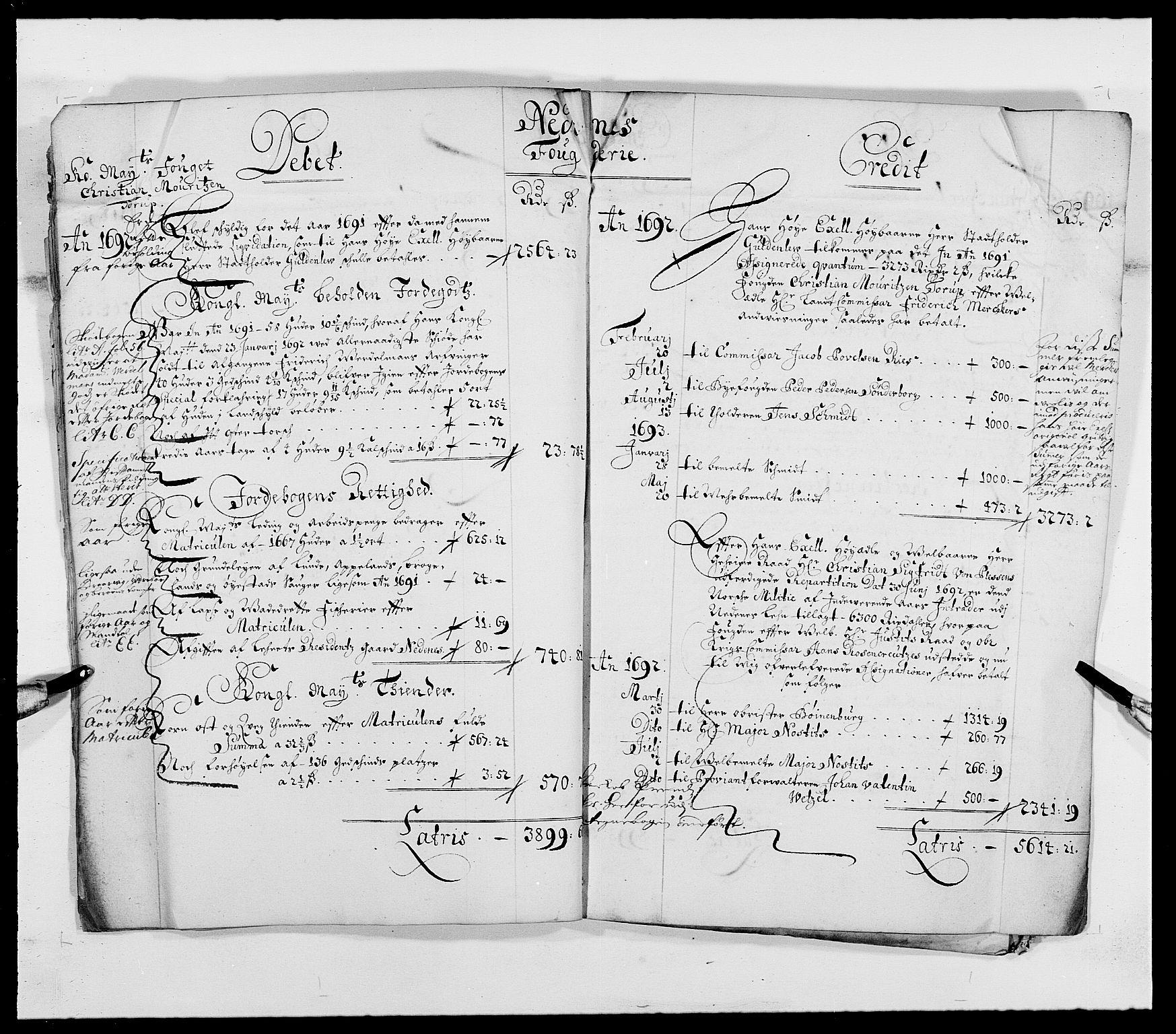 RA, Rentekammeret inntil 1814, Reviderte regnskaper, Fogderegnskap, R39/L2310: Fogderegnskap Nedenes, 1690-1692, s. 16