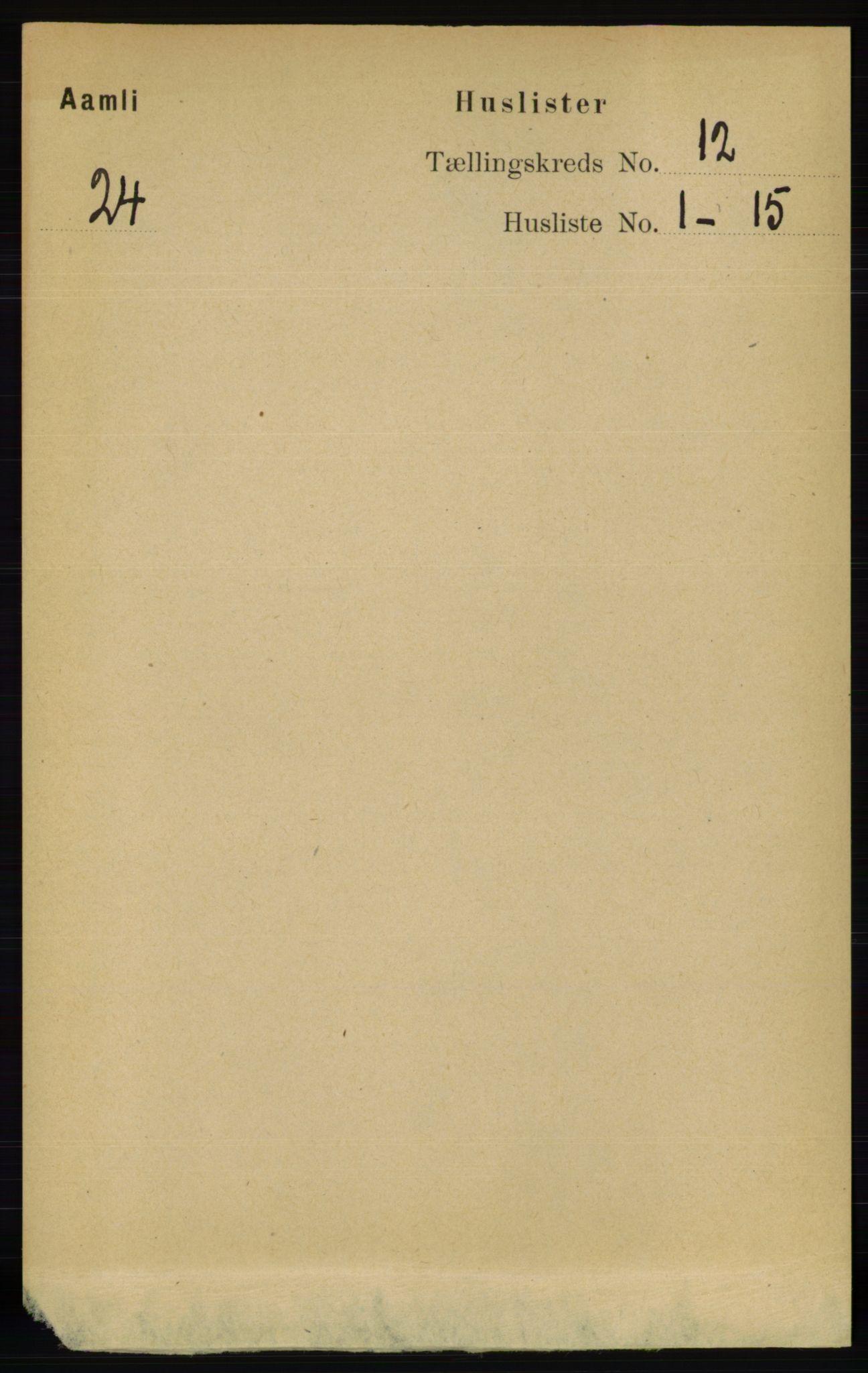 RA, Folketelling 1891 for 0929 Åmli herred, 1891, s. 2017