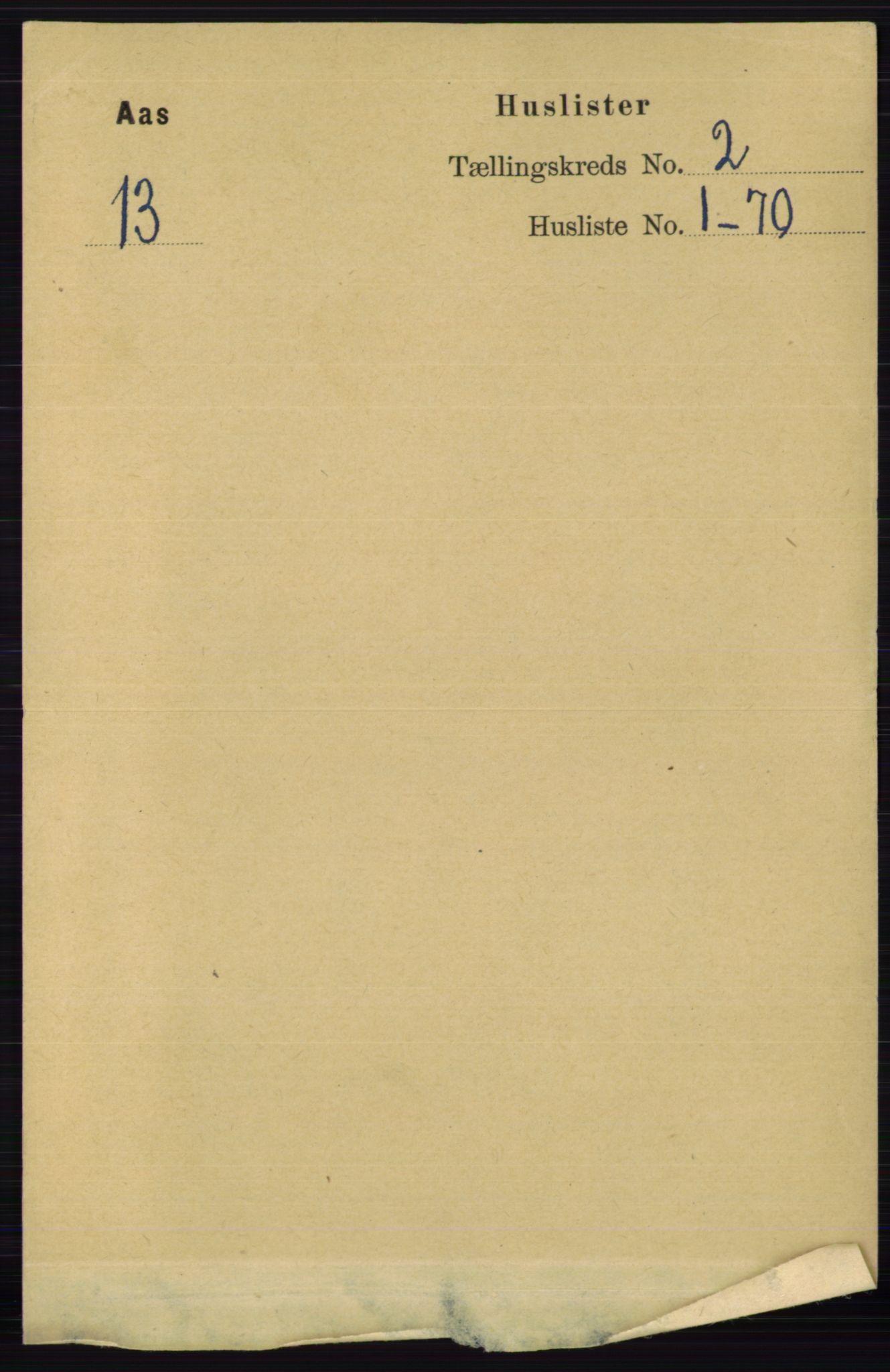 RA, Folketelling 1891 for 0214 Ås herred, 1891, s. 1502