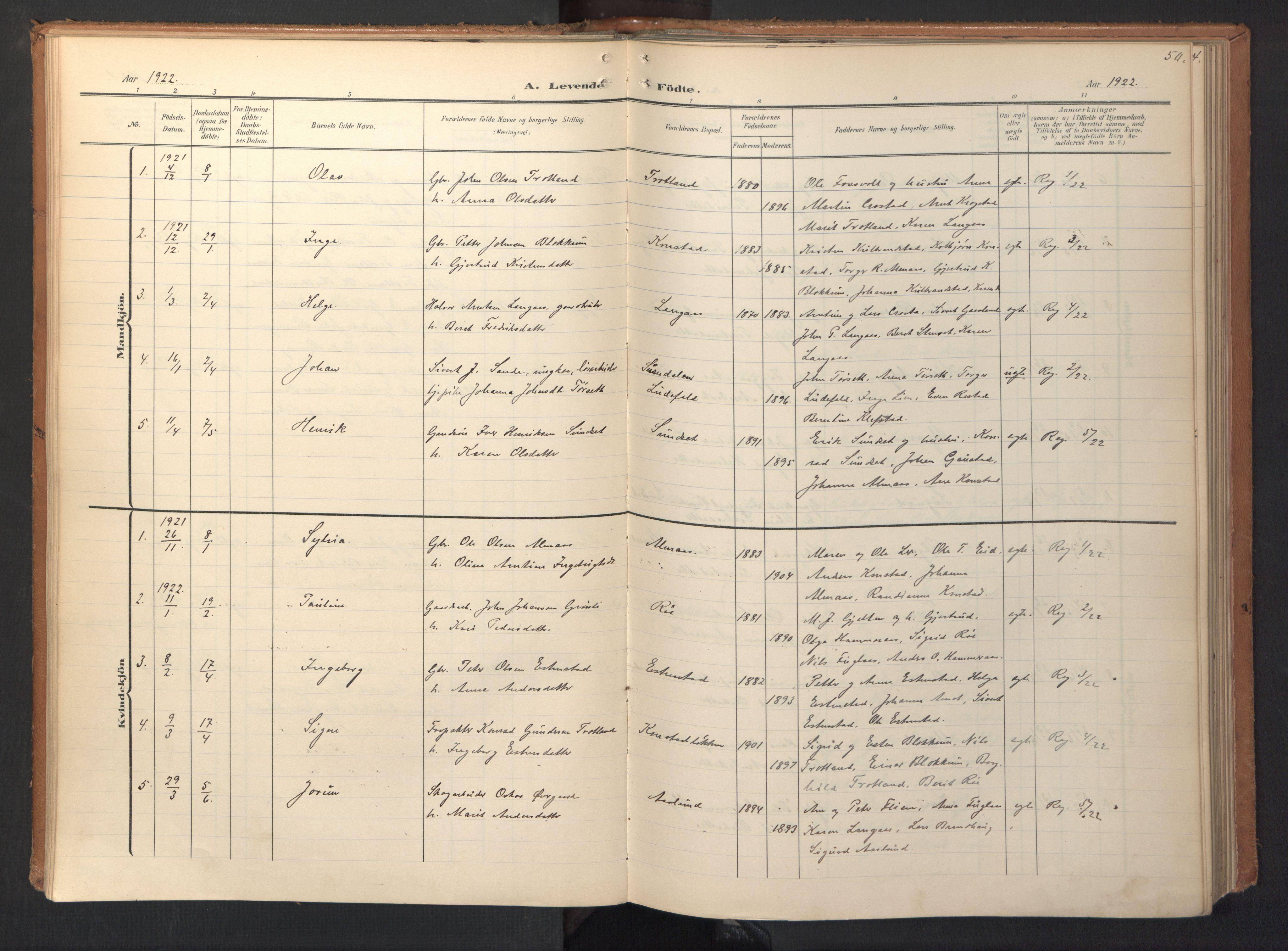 SAT, Ministerialprotokoller, klokkerbøker og fødselsregistre - Sør-Trøndelag, 694/L1128: Ministerialbok nr. 694A02, 1906-1931, s. 50