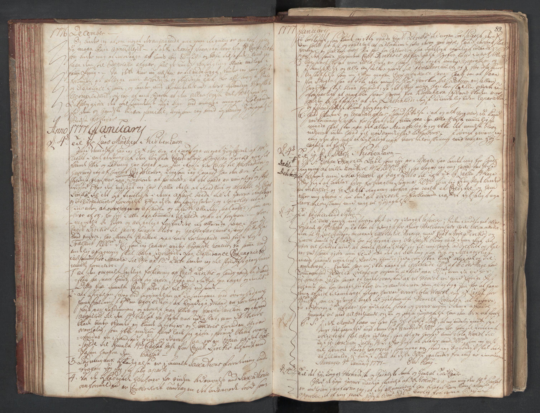 SAST, Pa 0003 - Ploug & Sundt, handelshuset, B/L0003: Kopibok, 1775-1780, s. 88b-89a