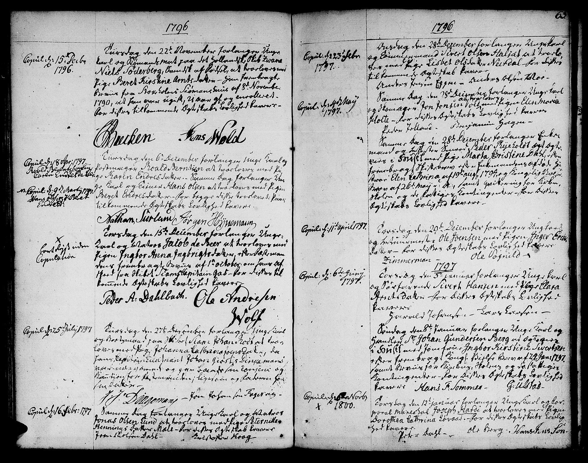 SAT, Ministerialprotokoller, klokkerbøker og fødselsregistre - Sør-Trøndelag, 601/L0041: Ministerialbok nr. 601A09, 1784-1801, s. 63