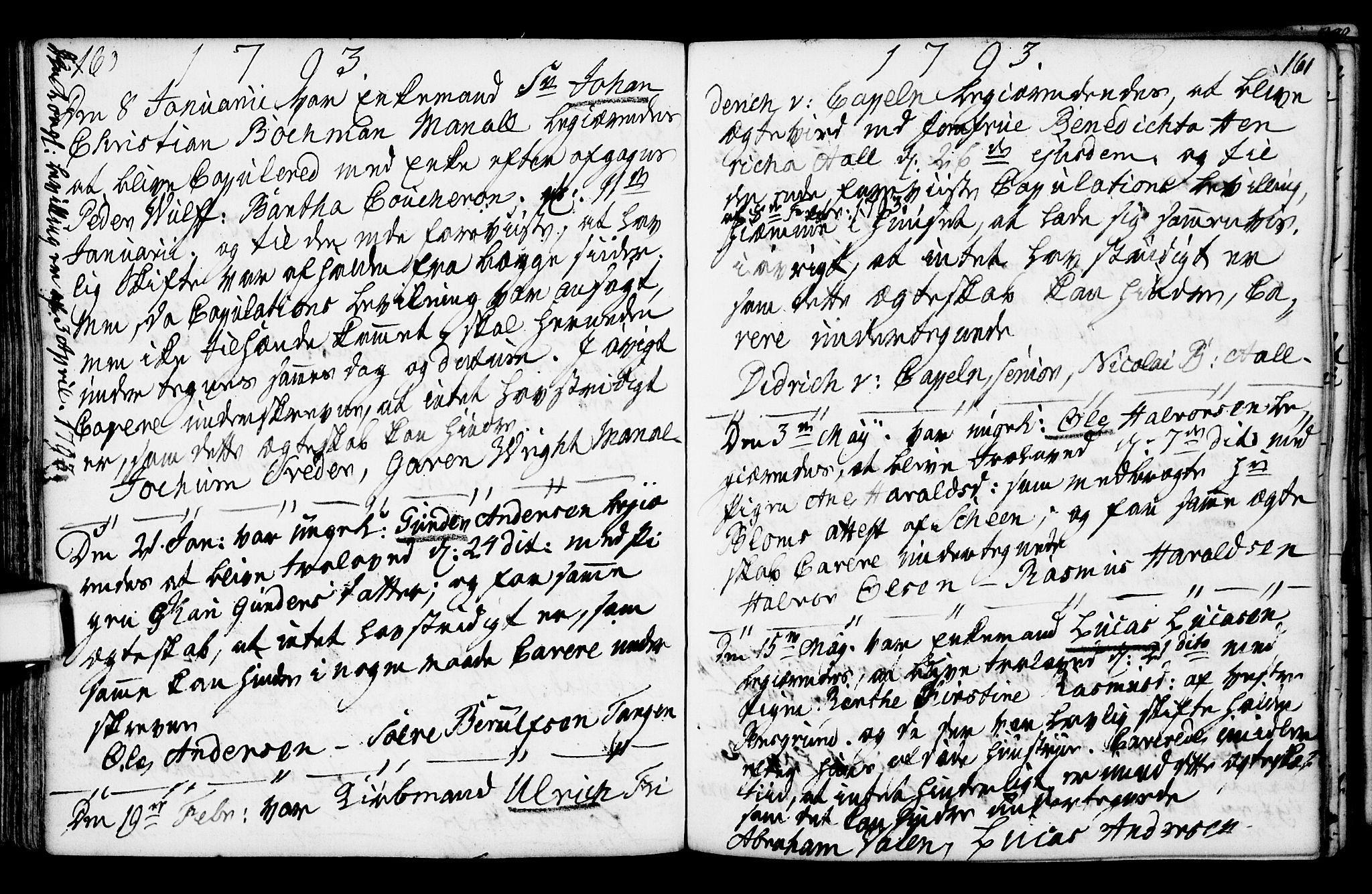 SAKO, Porsgrunn kirkebøker , F/Fa/L0003: Ministerialbok nr. 3, 1764-1814, s. 160-161