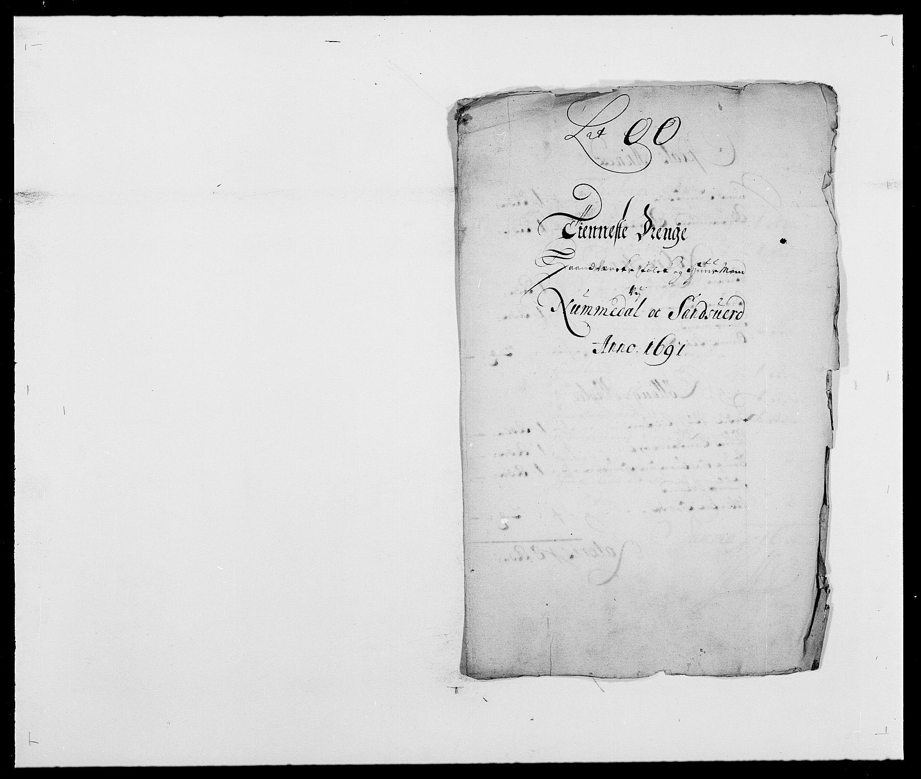 RA, Rentekammeret inntil 1814, Reviderte regnskaper, Fogderegnskap, R24/L1573: Fogderegnskap Numedal og Sandsvær, 1687-1691, s. 514