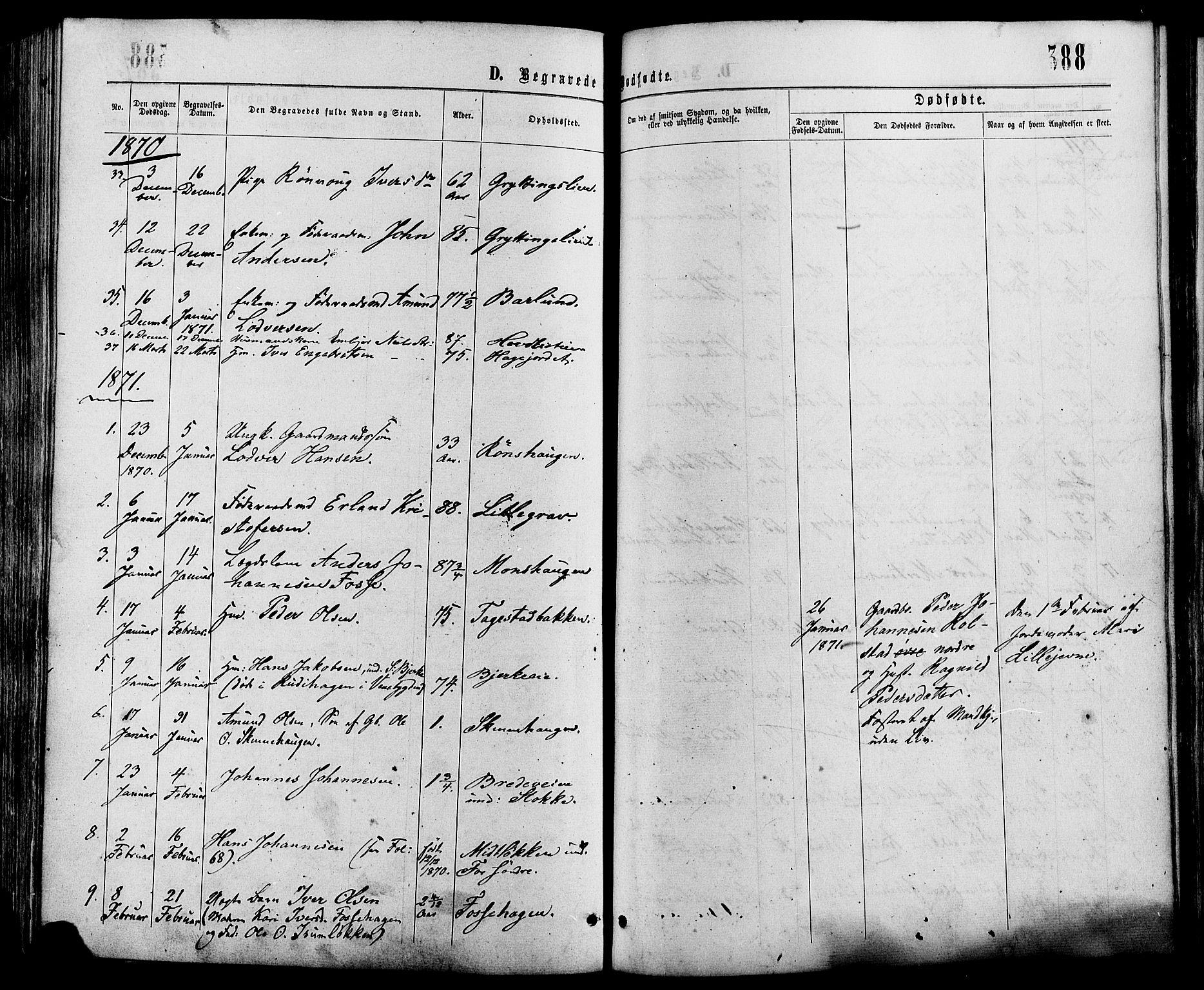 SAH, Sør-Fron prestekontor, H/Ha/Haa/L0002: Ministerialbok nr. 2, 1864-1880, s. 388