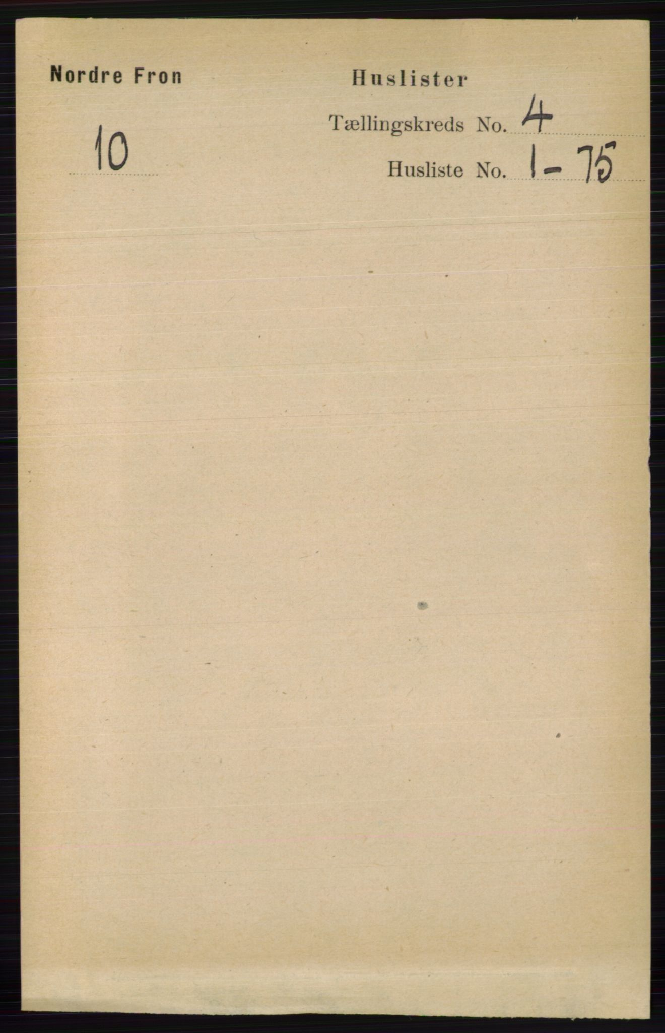 RA, Folketelling 1891 for 0518 Nord-Fron herred, 1891, s. 1383