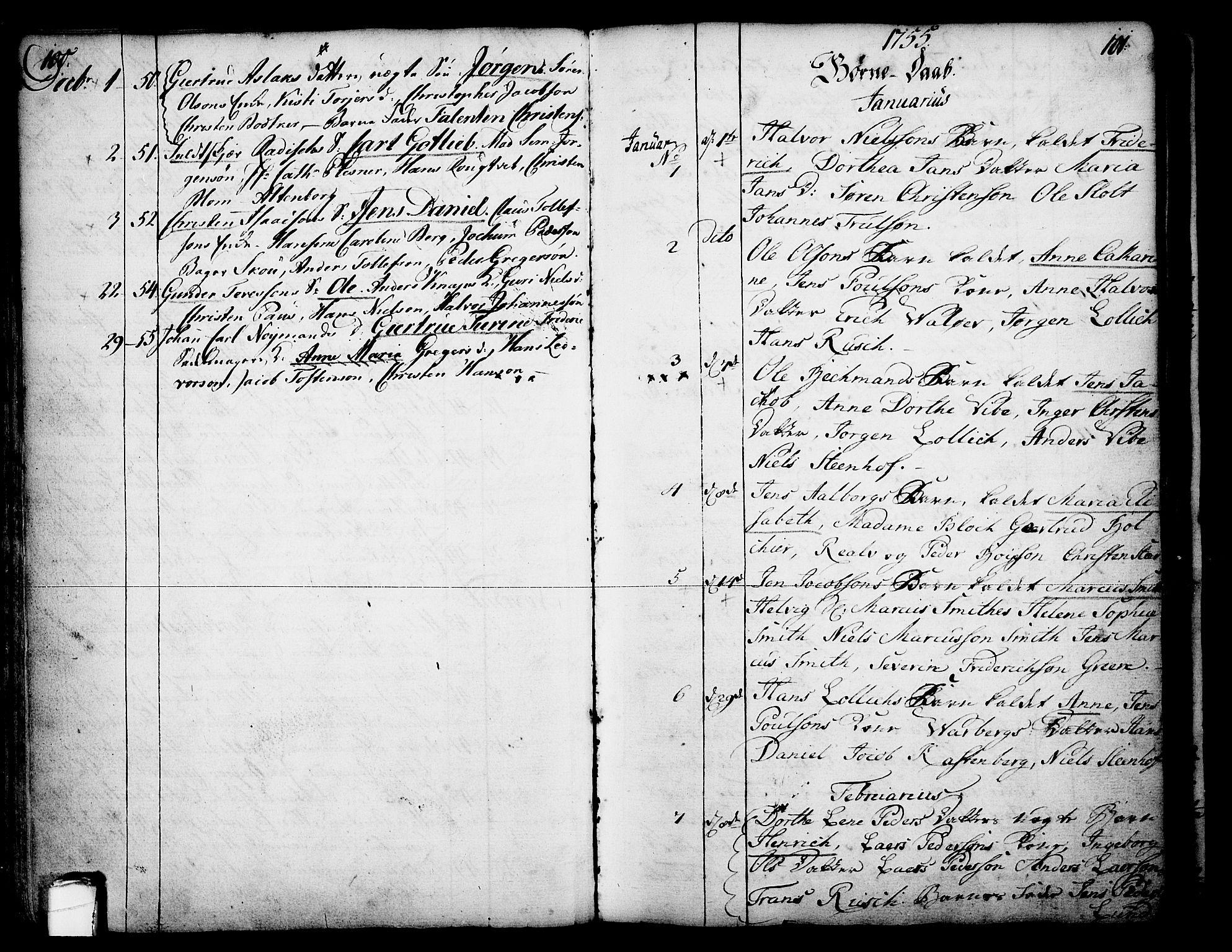 SAKO, Skien kirkebøker, F/Fa/L0003: Ministerialbok nr. 3, 1755-1791, s. 100-101