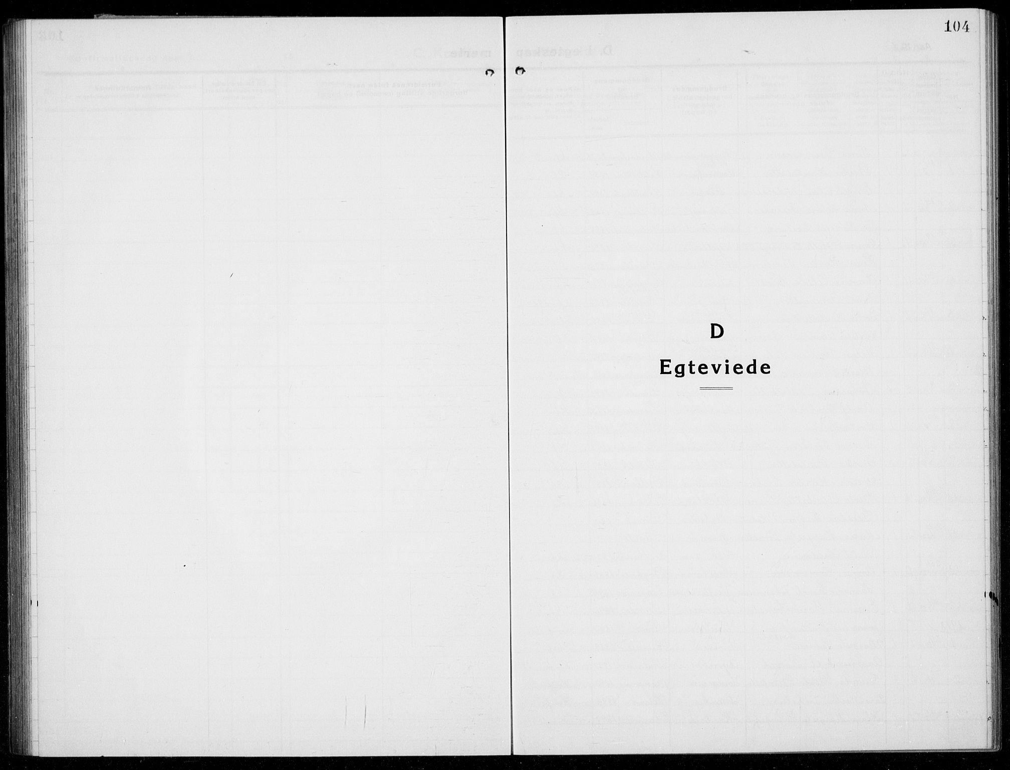 SAB, Husnes Sokneprestembete, H/Hab: Klokkerbok nr. A  3, 1915-1936, s. 104