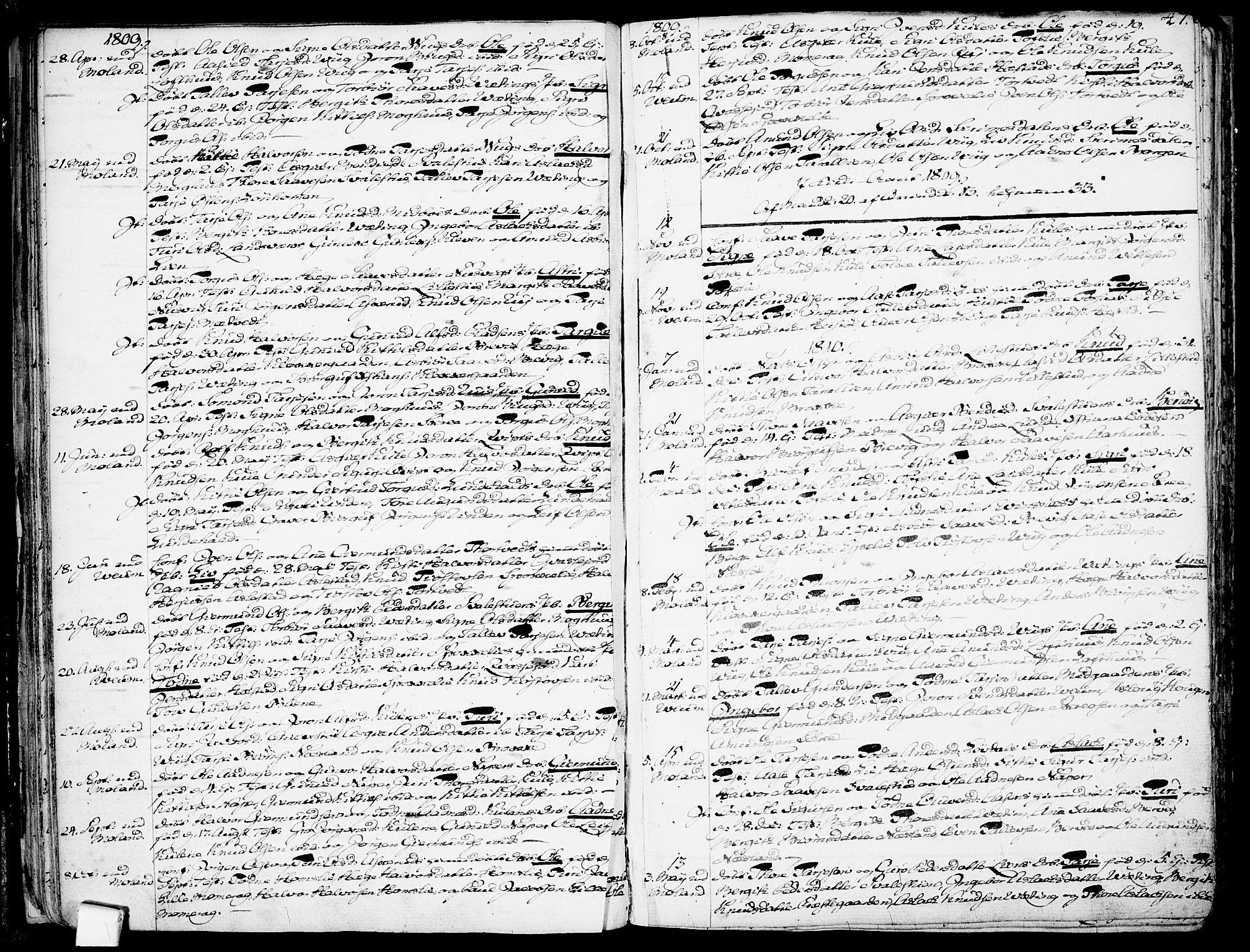 SAKO, Fyresdal kirkebøker, F/Fa/L0002: Ministerialbok nr. I 2, 1769-1814, s. 47