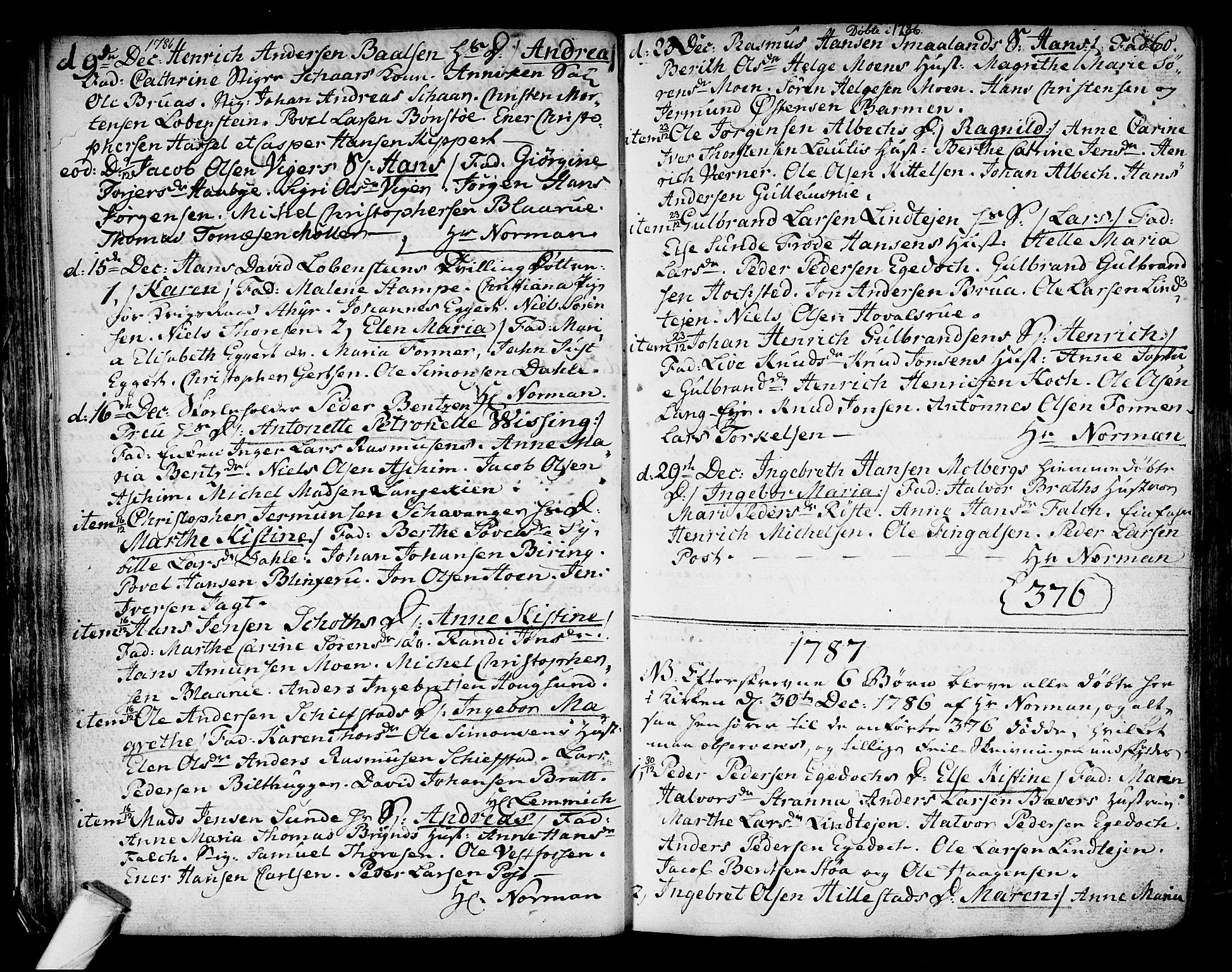 SAKO, Kongsberg kirkebøker, F/Fa/L0006: Ministerialbok nr. I 6, 1783-1797, s. 60