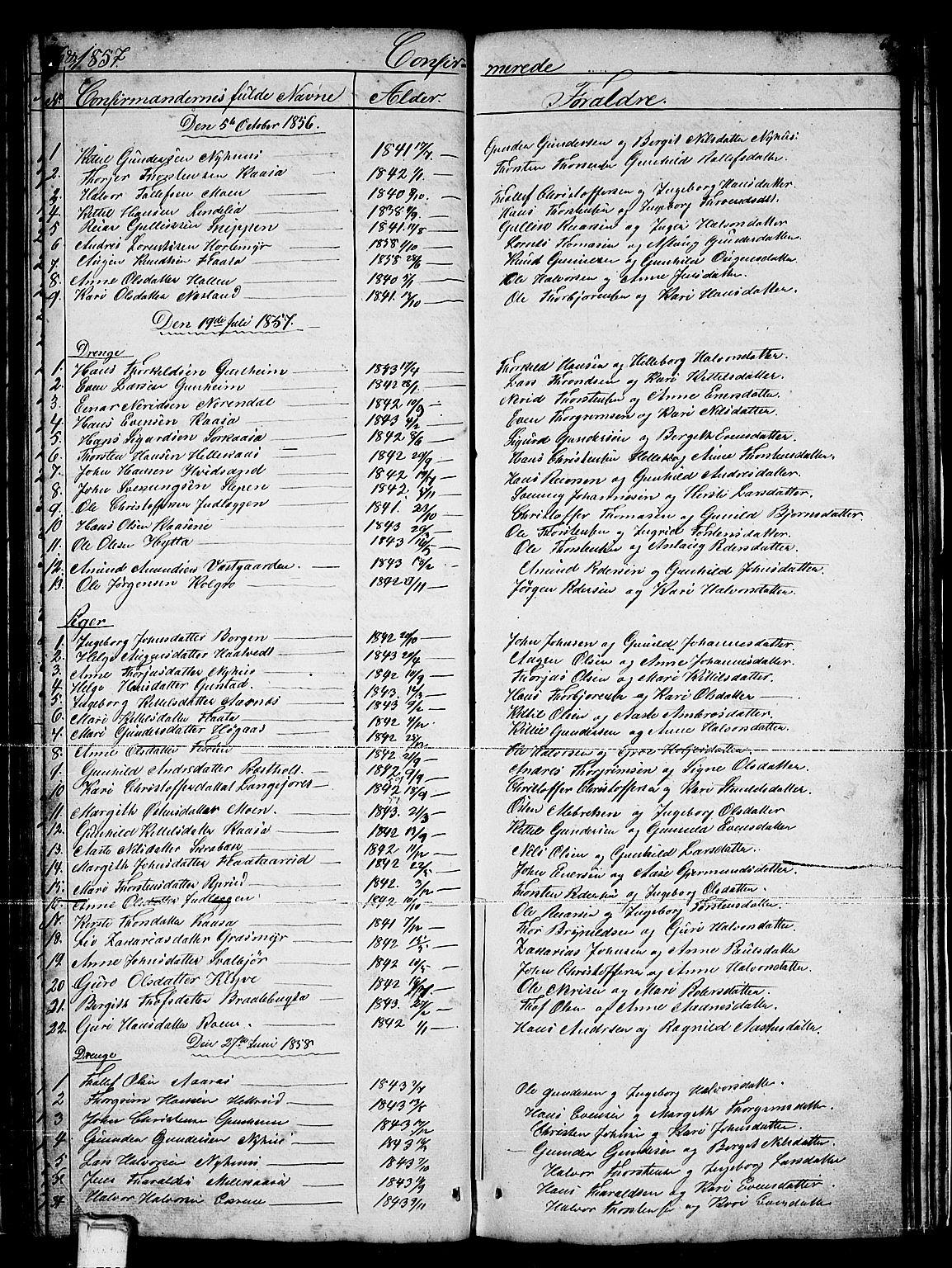 SAKO, Sauherad kirkebøker, G/Gb/L0001: Klokkerbok nr. II 1, 1845-1865, s. 66