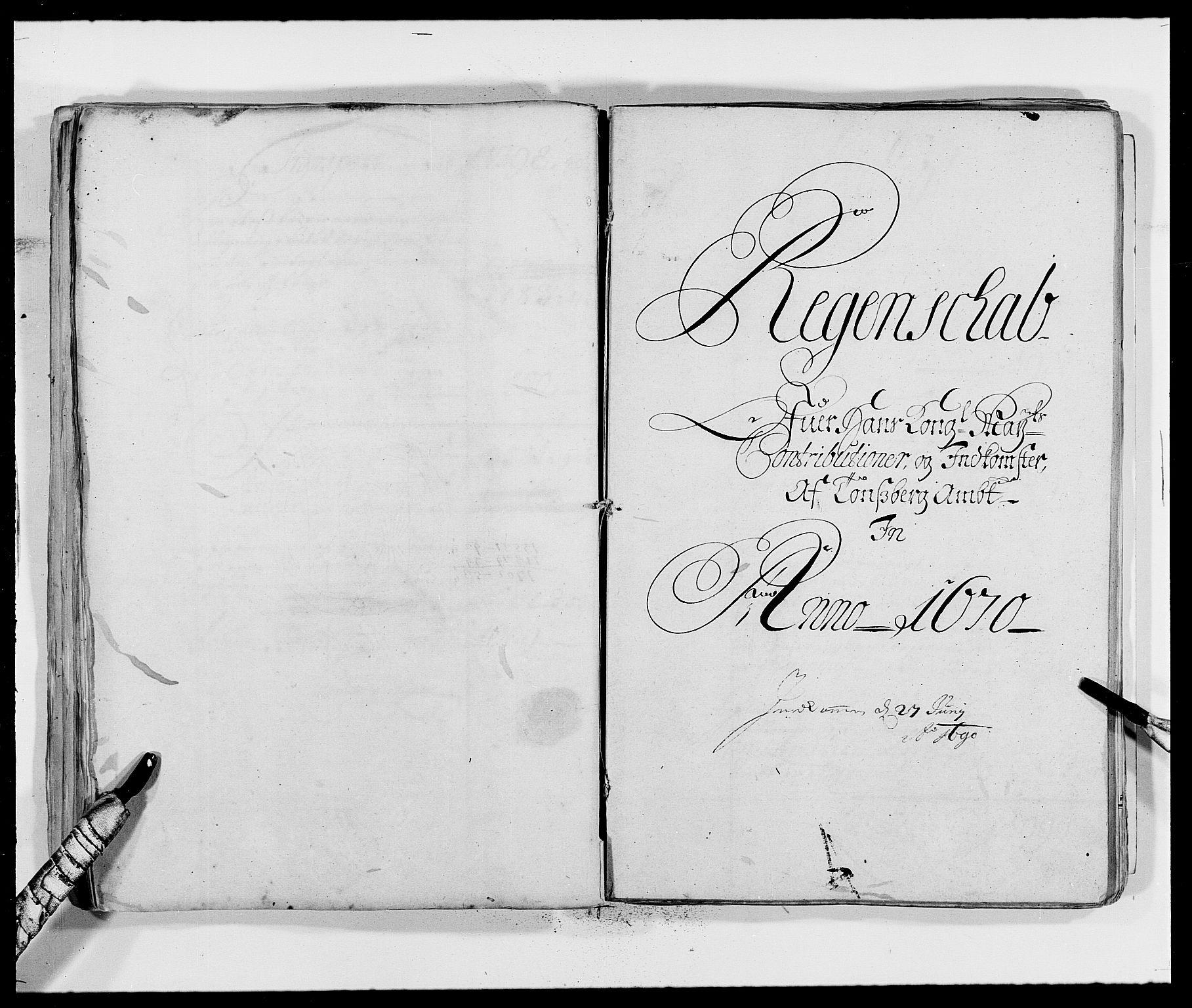 RA, Rentekammeret inntil 1814, Reviderte regnskaper, Fogderegnskap, R32/L1839: Fogderegnskap Jarlsberg grevskap, 1664-1673, s. 89
