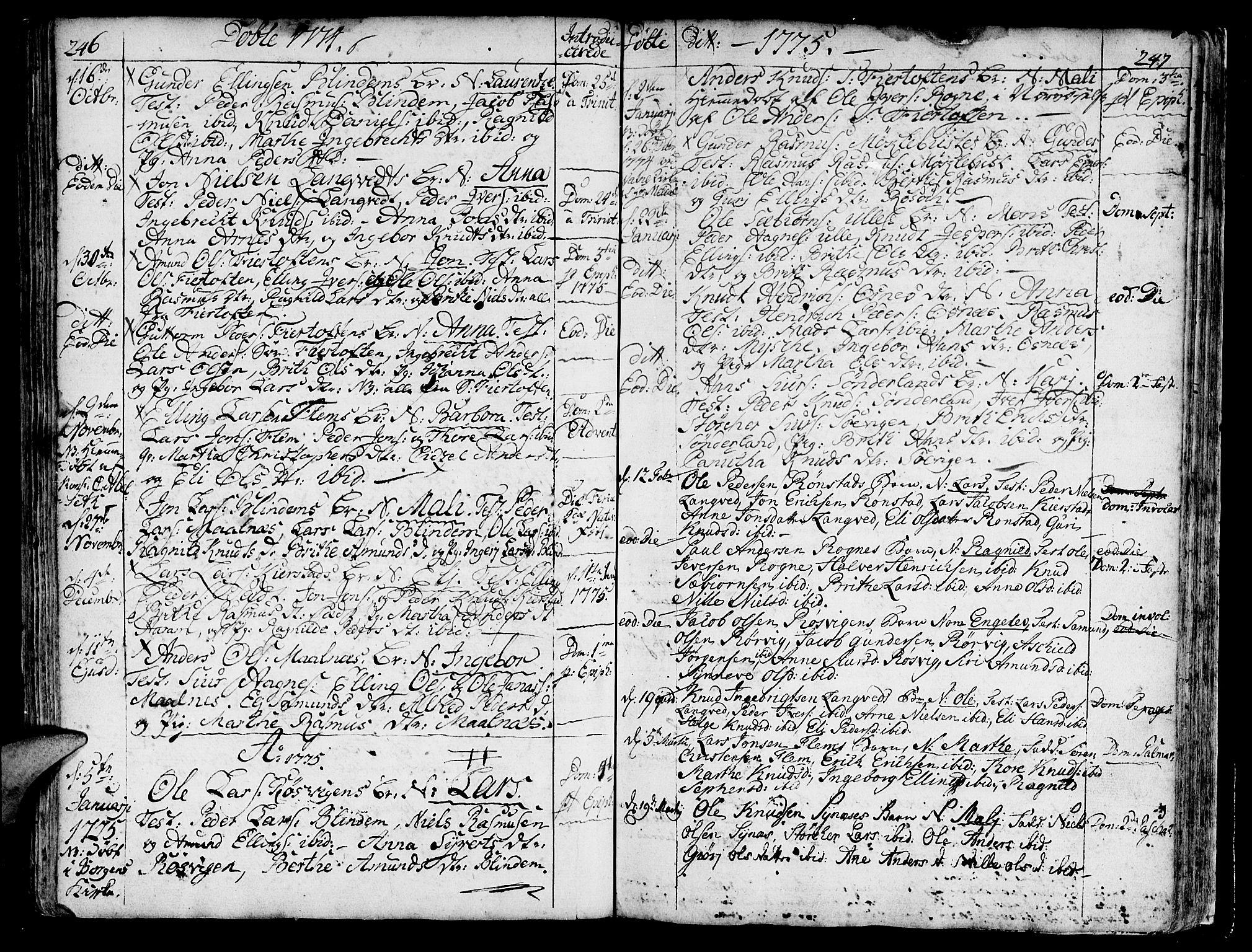 SAT, Ministerialprotokoller, klokkerbøker og fødselsregistre - Møre og Romsdal, 536/L0493: Ministerialbok nr. 536A02, 1739-1802, s. 246-247