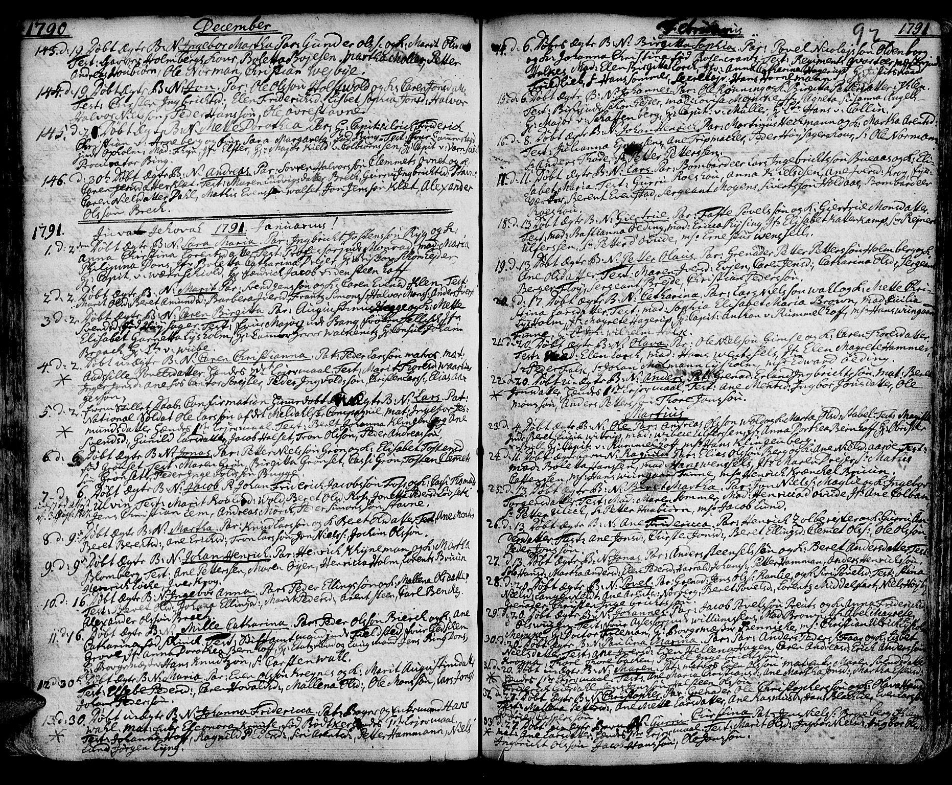 SAT, Ministerialprotokoller, klokkerbøker og fødselsregistre - Sør-Trøndelag, 601/L0039: Ministerialbok nr. 601A07, 1770-1819, s. 92