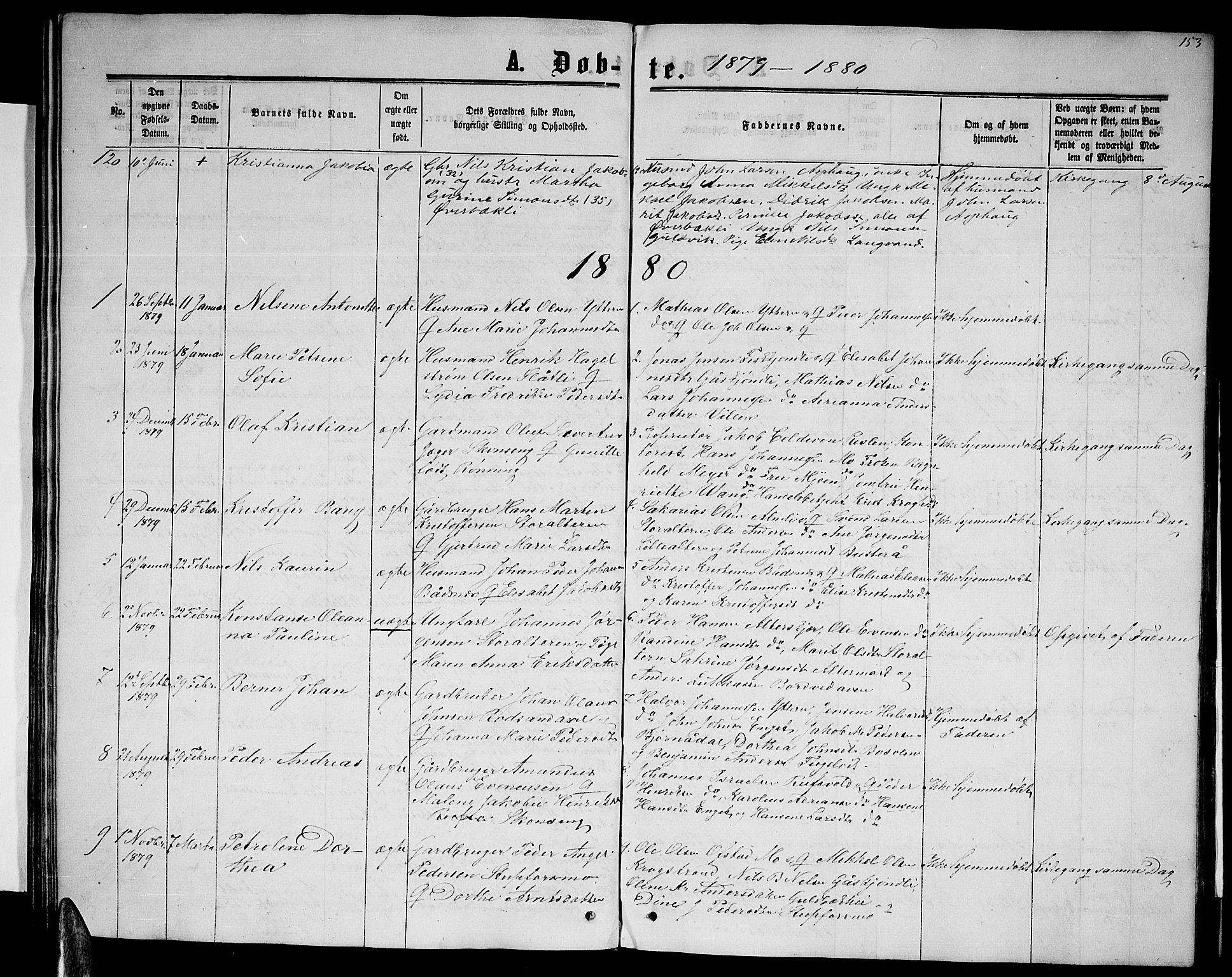 SAT, Ministerialprotokoller, klokkerbøker og fødselsregistre - Nordland, 827/L0415: Klokkerbok nr. 827C04, 1864-1886, s. 153