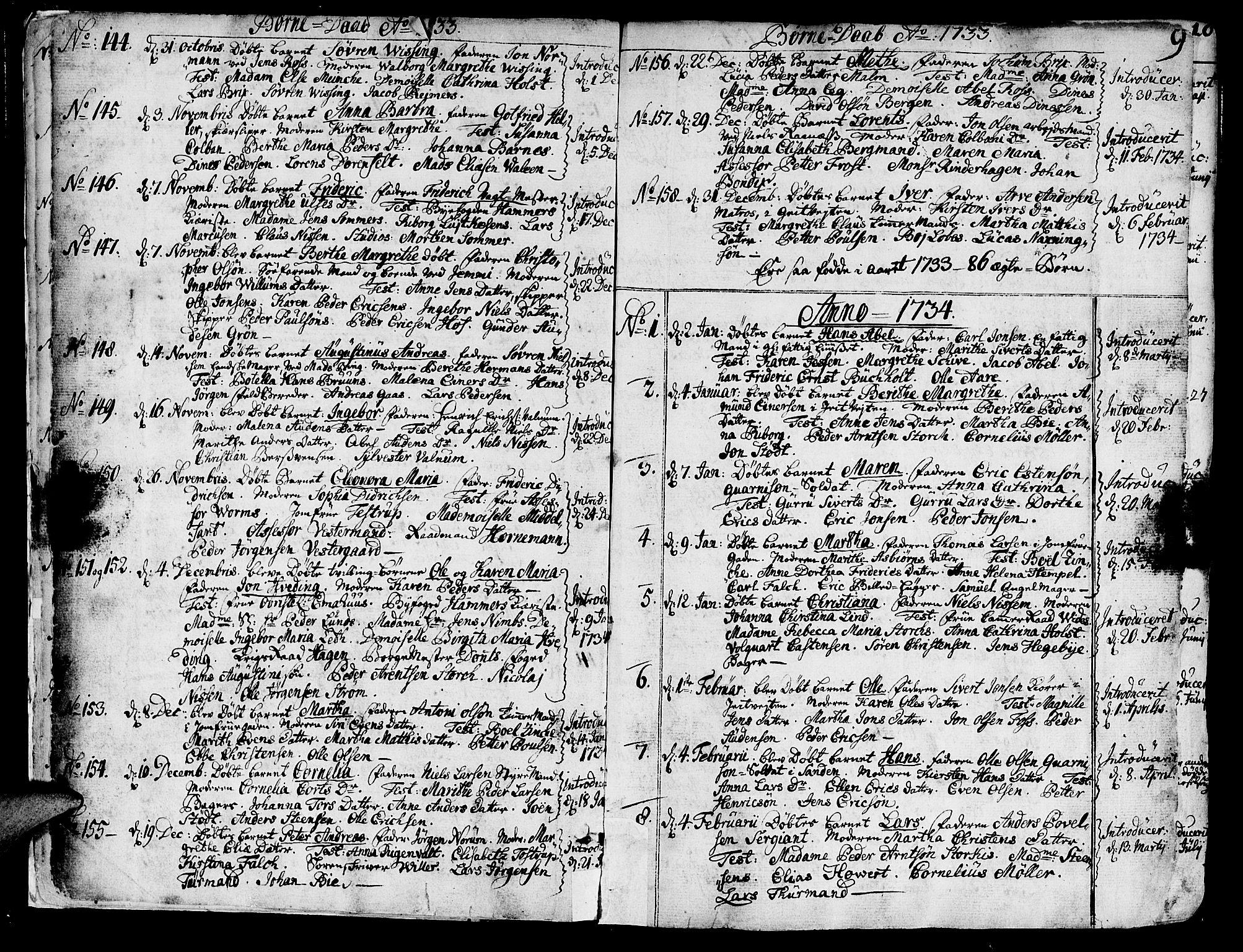 SAT, Ministerialprotokoller, klokkerbøker og fødselsregistre - Sør-Trøndelag, 602/L0103: Ministerialbok nr. 602A01, 1732-1774, s. 9