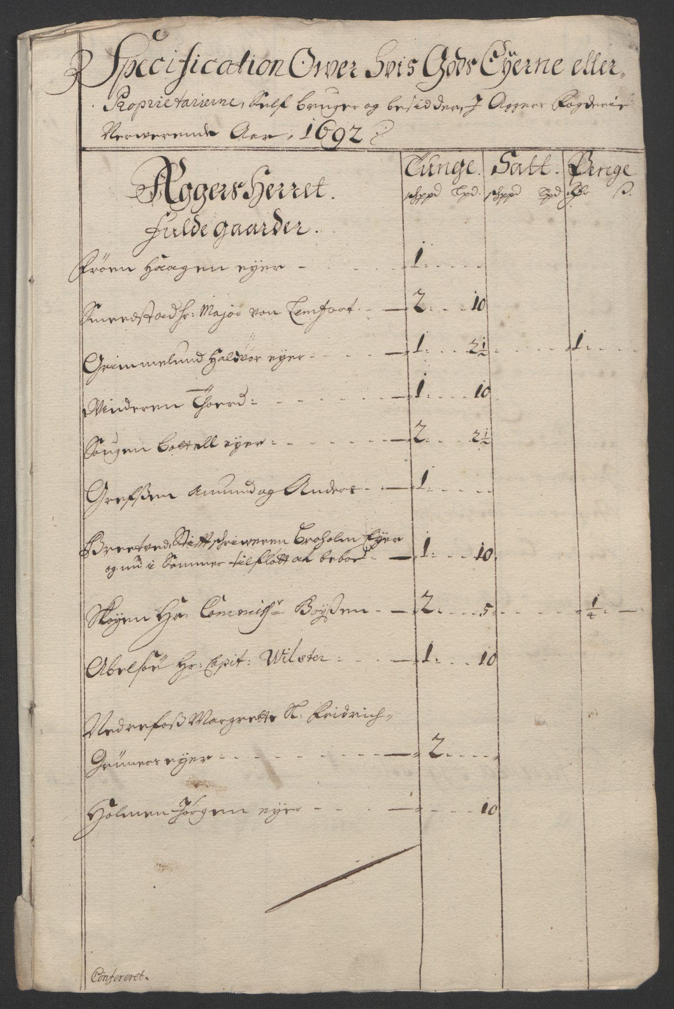 RA, Rentekammeret inntil 1814, Reviderte regnskaper, Fogderegnskap, R08/L0426: Fogderegnskap Aker, 1692-1693, s. 86