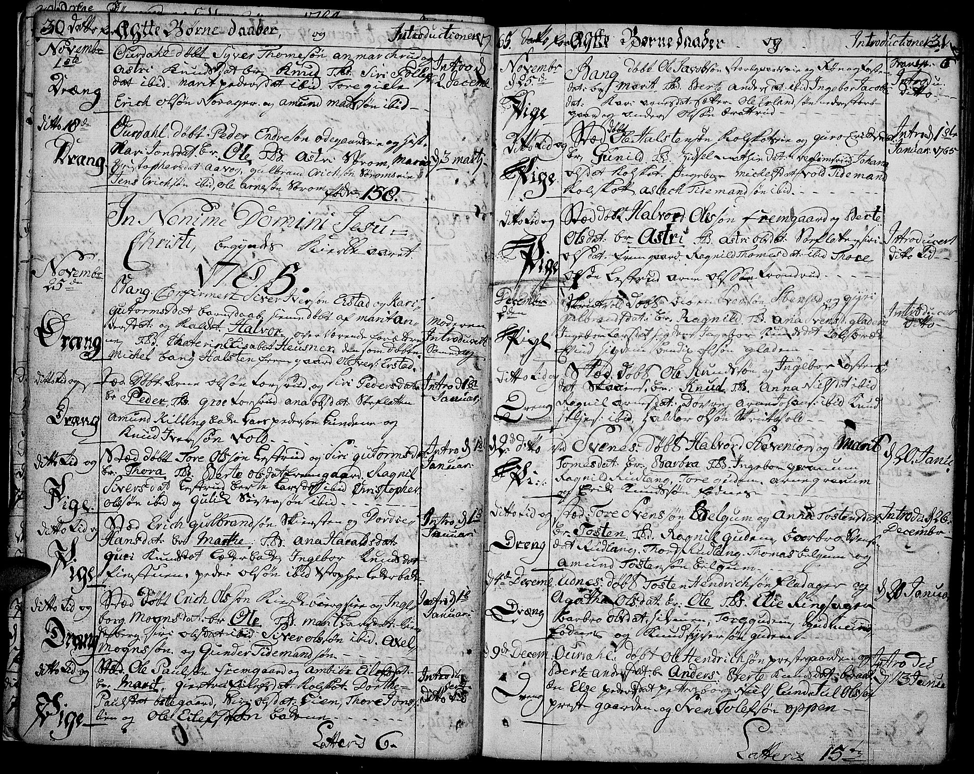SAH, Aurdal prestekontor, Ministerialbok nr. 5, 1763-1781, s. 30-31