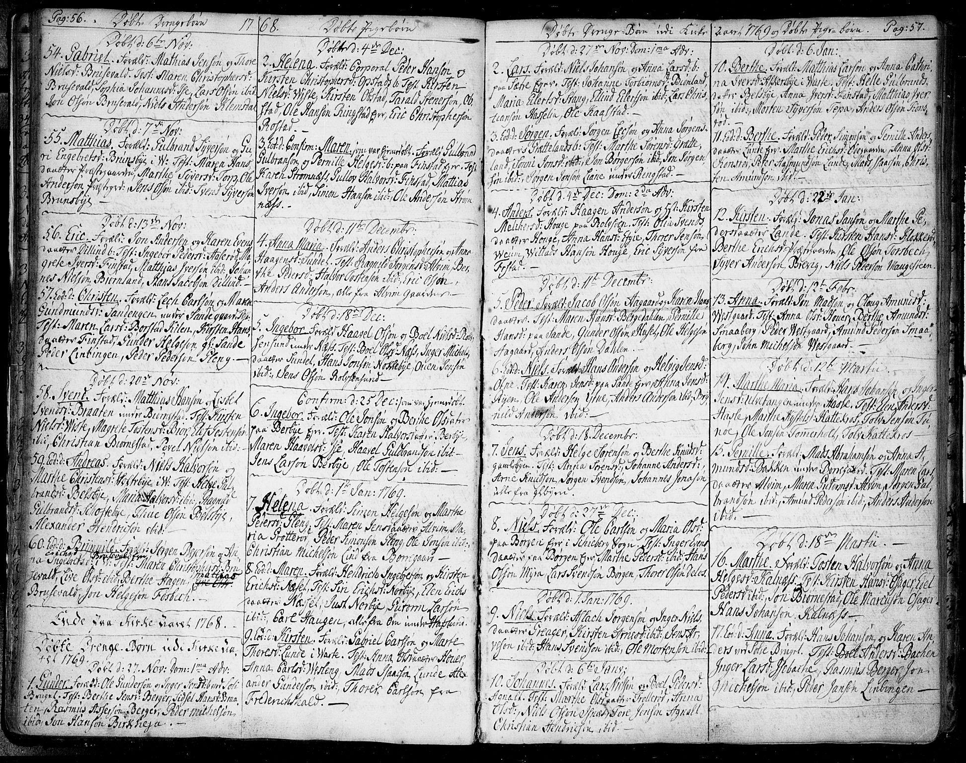 SAO, Tune prestekontor Kirkebøker, F/Fa/L0002: Ministerialbok nr. 2, 1758-1781, s. 56-57