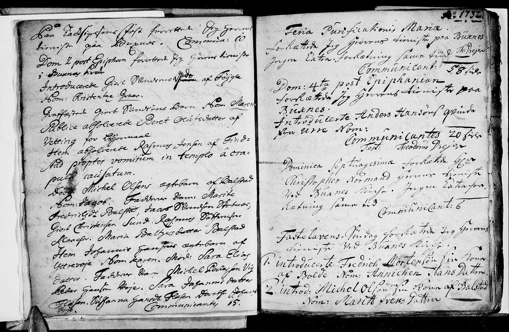 SAT, Ministerialprotokoller, klokkerbøker og fødselsregistre - Nordland, 881/L1148: Ministerialbok nr. 881A01, 1732-1744