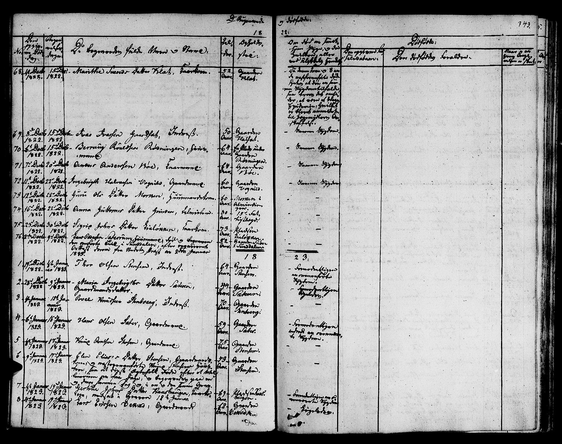 SAT, Ministerialprotokoller, klokkerbøker og fødselsregistre - Sør-Trøndelag, 678/L0897: Ministerialbok nr. 678A06-07, 1821-1847, s. 343