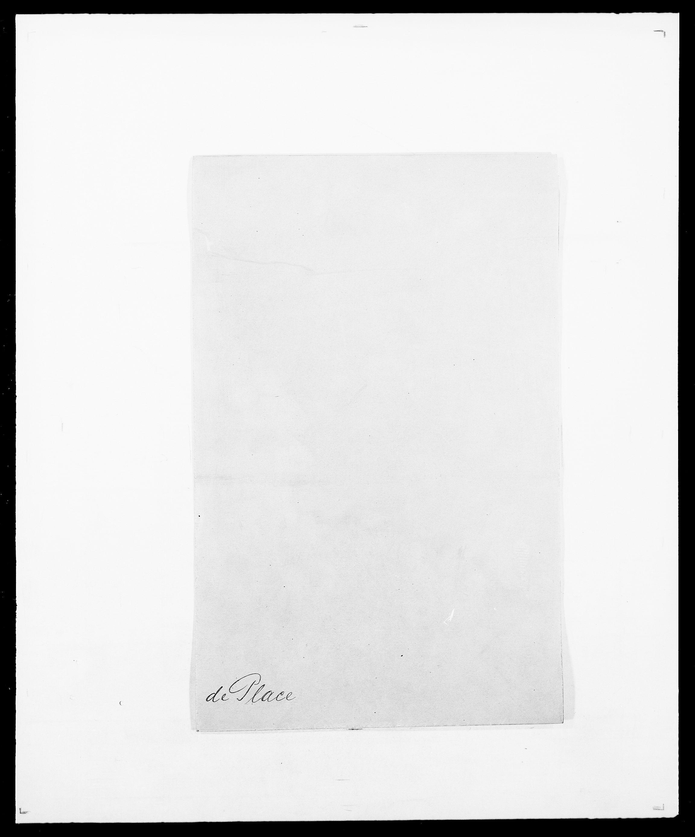 SAO, Delgobe, Charles Antoine - samling, D/Da/L0031: de Place - Raaum, s. 1