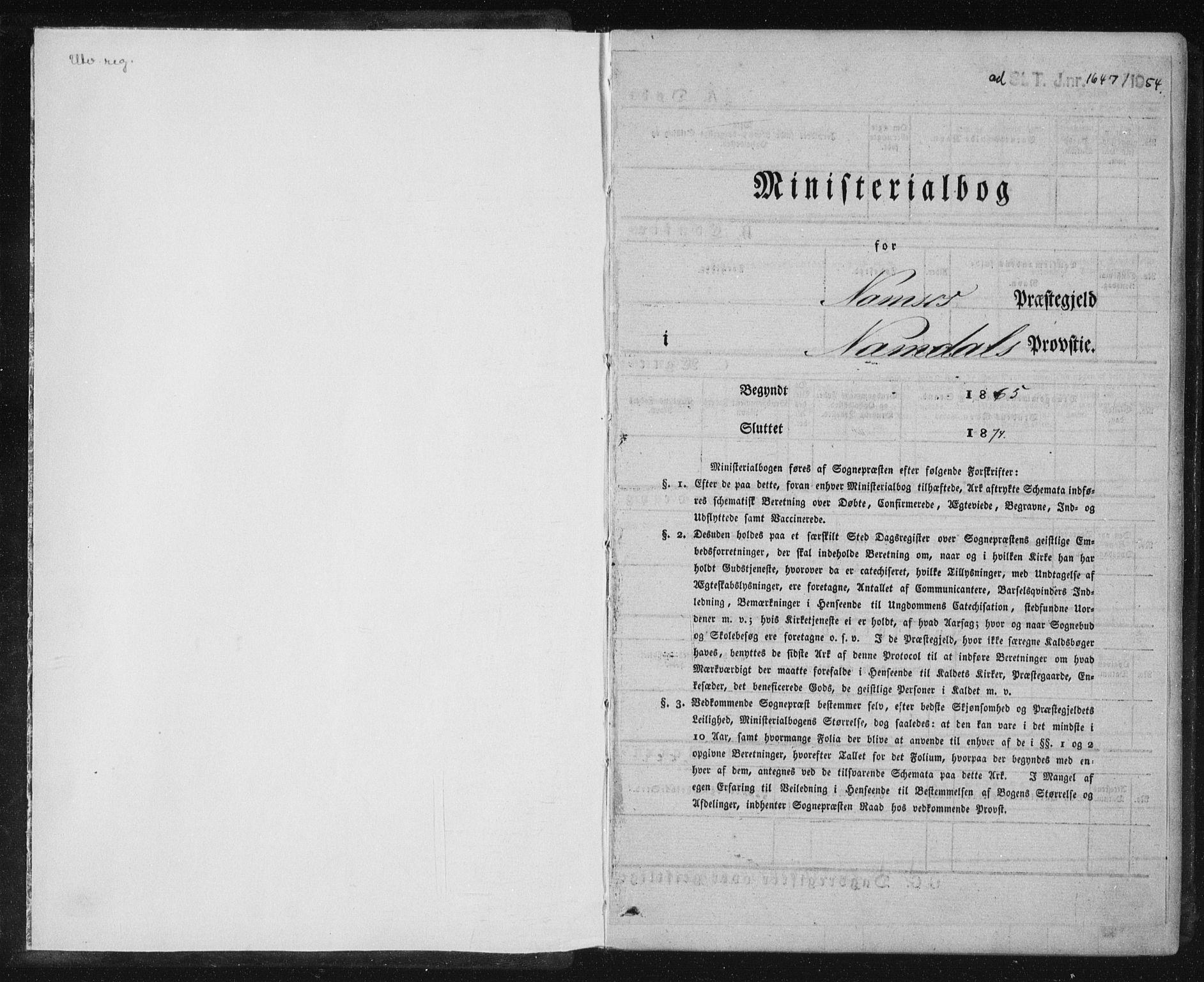SAT, Ministerialprotokoller, klokkerbøker og fødselsregistre - Nord-Trøndelag, 768/L0570: Ministerialbok nr. 768A05, 1865-1874