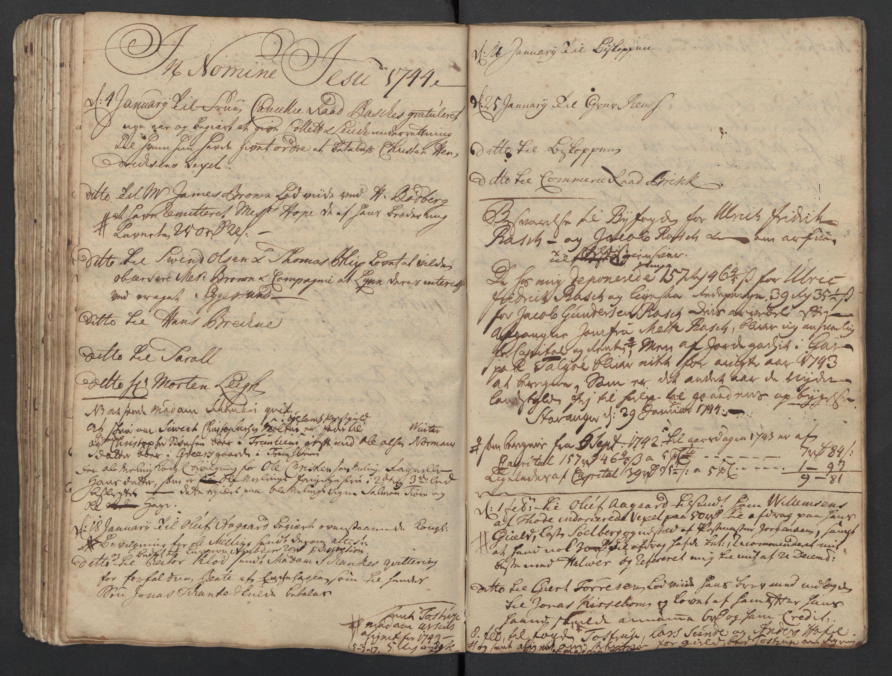 SAST, Pa 0119 - Smith, Lauritz Andersen og Lauritz Lauritzen, O/L0001: Kopibøker m.m., 1740-1745, s. 105