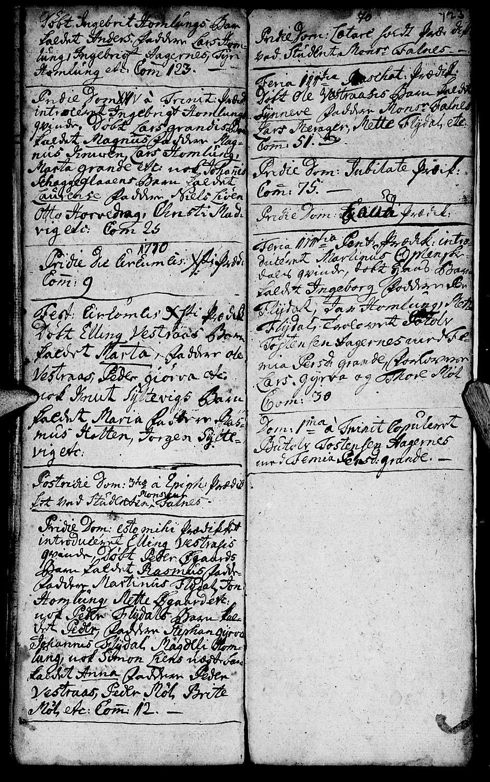 SAT, Ministerialprotokoller, klokkerbøker og fødselsregistre - Møre og Romsdal, 519/L0243: Ministerialbok nr. 519A02, 1760-1770, s. 123