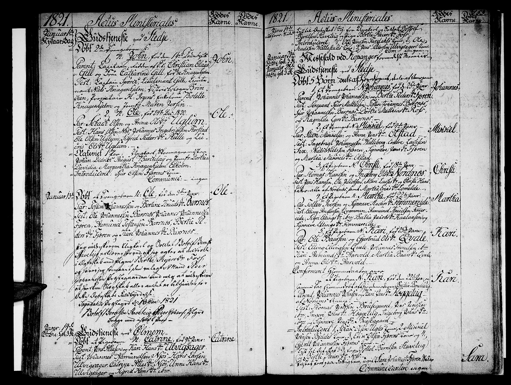 SAB, Sogndal sokneprestembete, H/Haa/Haaa/L0009: Ministerialbok nr. A 9, 1809-1821, s. 153