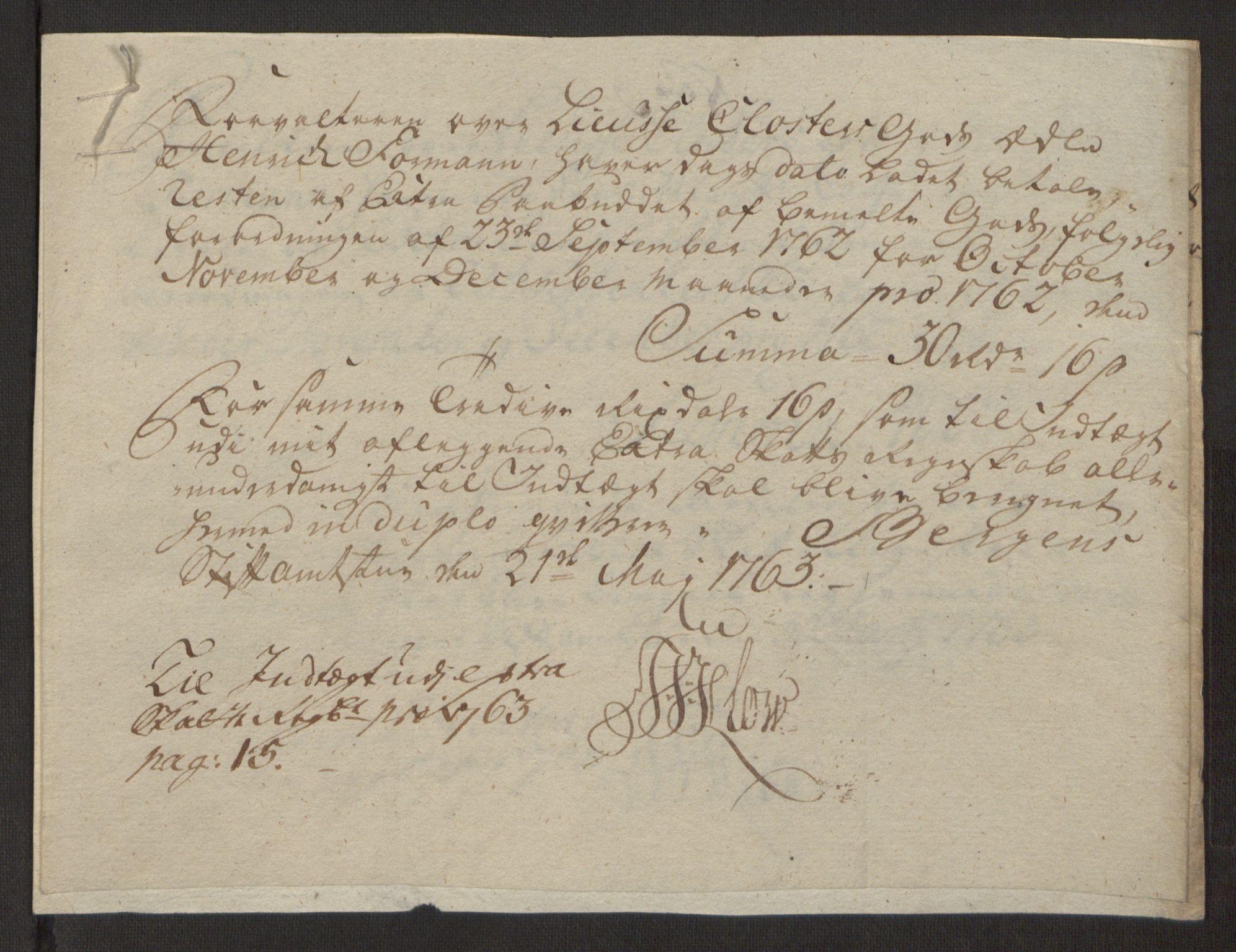 RA, Rentekammeret inntil 1814, Reviderte regnskaper, Fogderegnskap, R50/L3180: Ekstraskatten Lyse kloster, 1762-1783, s. 50