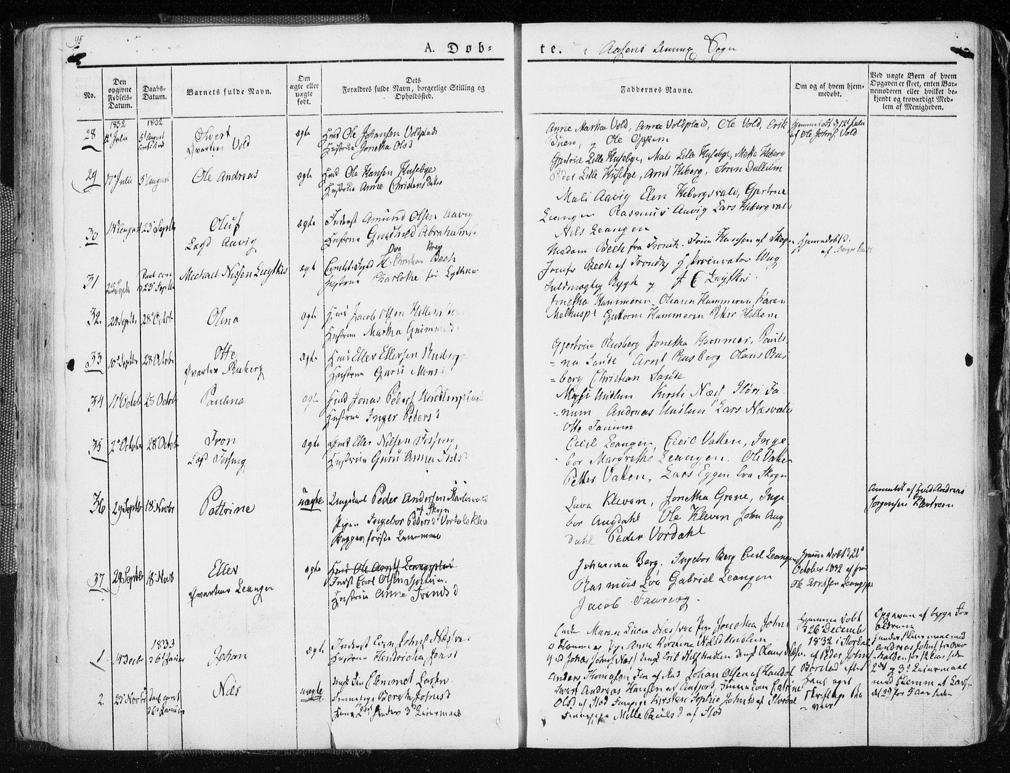 SAT, Ministerialprotokoller, klokkerbøker og fødselsregistre - Nord-Trøndelag, 713/L0114: Ministerialbok nr. 713A05, 1827-1839, s. 95