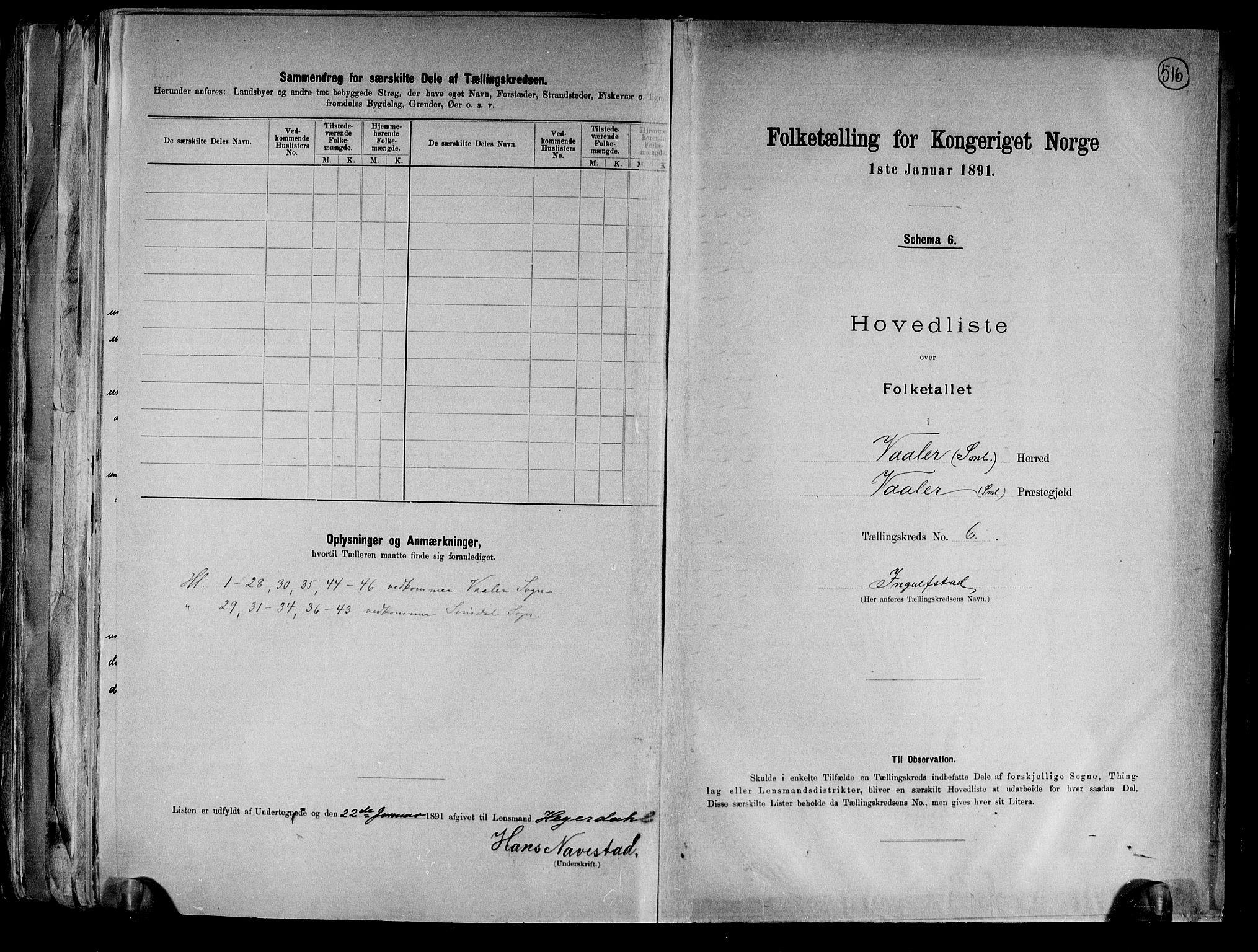 RA, Folketelling 1891 for 0137 Våler herred, 1891, s. 14